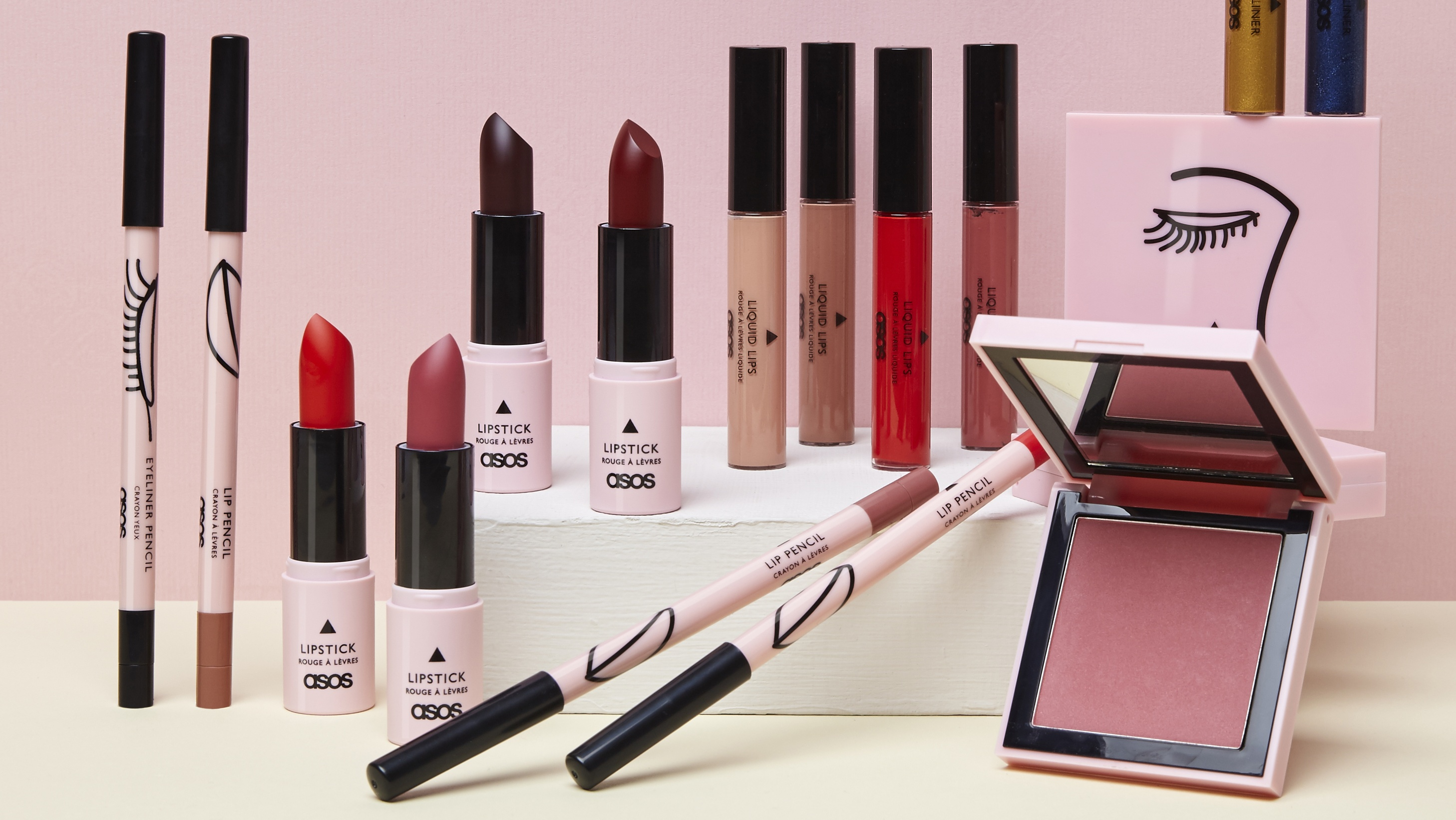 products from the ASOS make-up collection