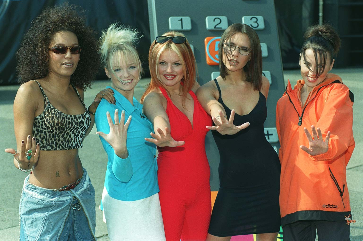 The Spice Girls at the Channel 5 launch in 1997 (Fiona Hanson/PA Archive/PA)