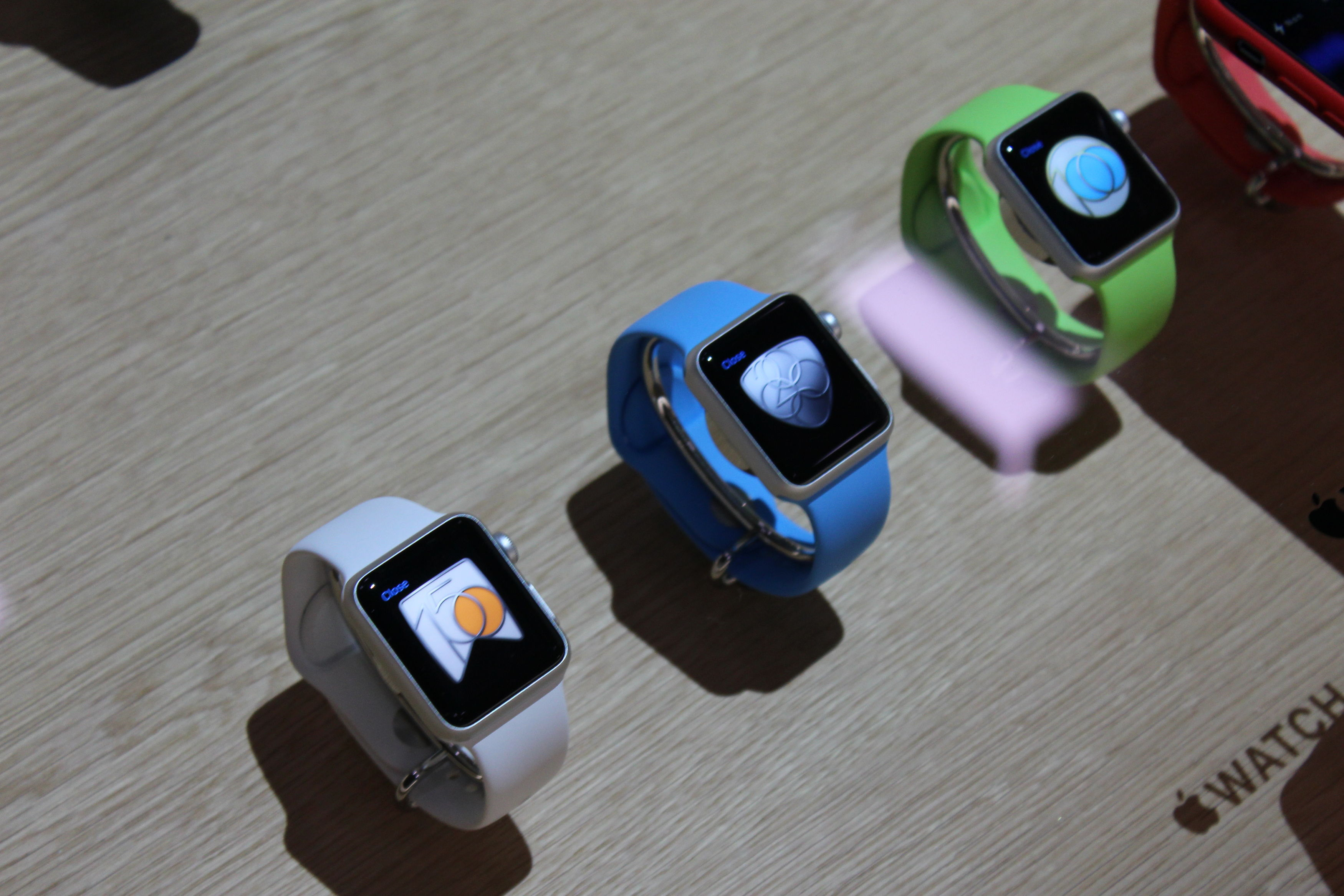 Different styles of the new Apple Watch Sport