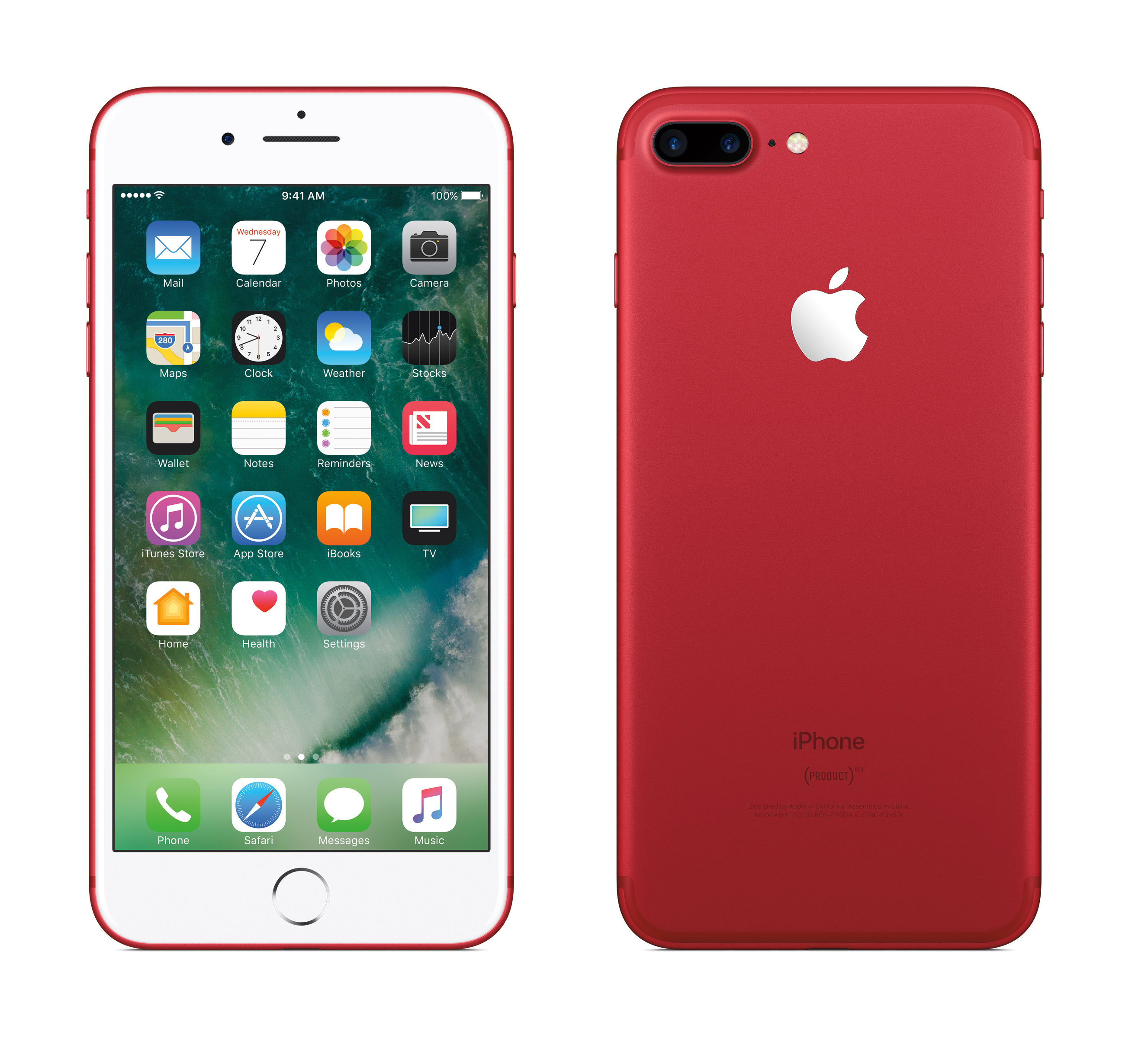 Apple iPhone 7 in red