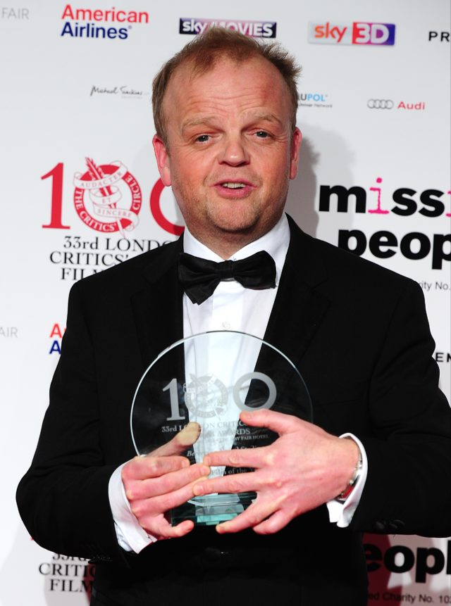 British Actor Of The Year winner Toby Jones in the press room at the 2013 London Critics' Circle Film Awards at the May Fair Hotel, Stratton Street, London.