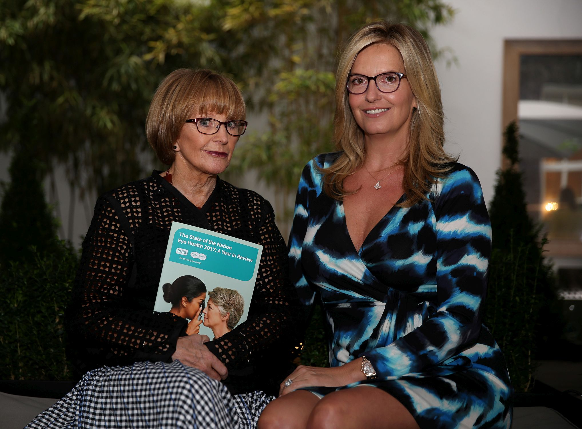 Anne Robinson ambassador for the RNIB and Specsavers Transforming Eye Health Campaig with RNIB vice-president, Penny Lancaster launching the State of the Nation Eye Health report 2017