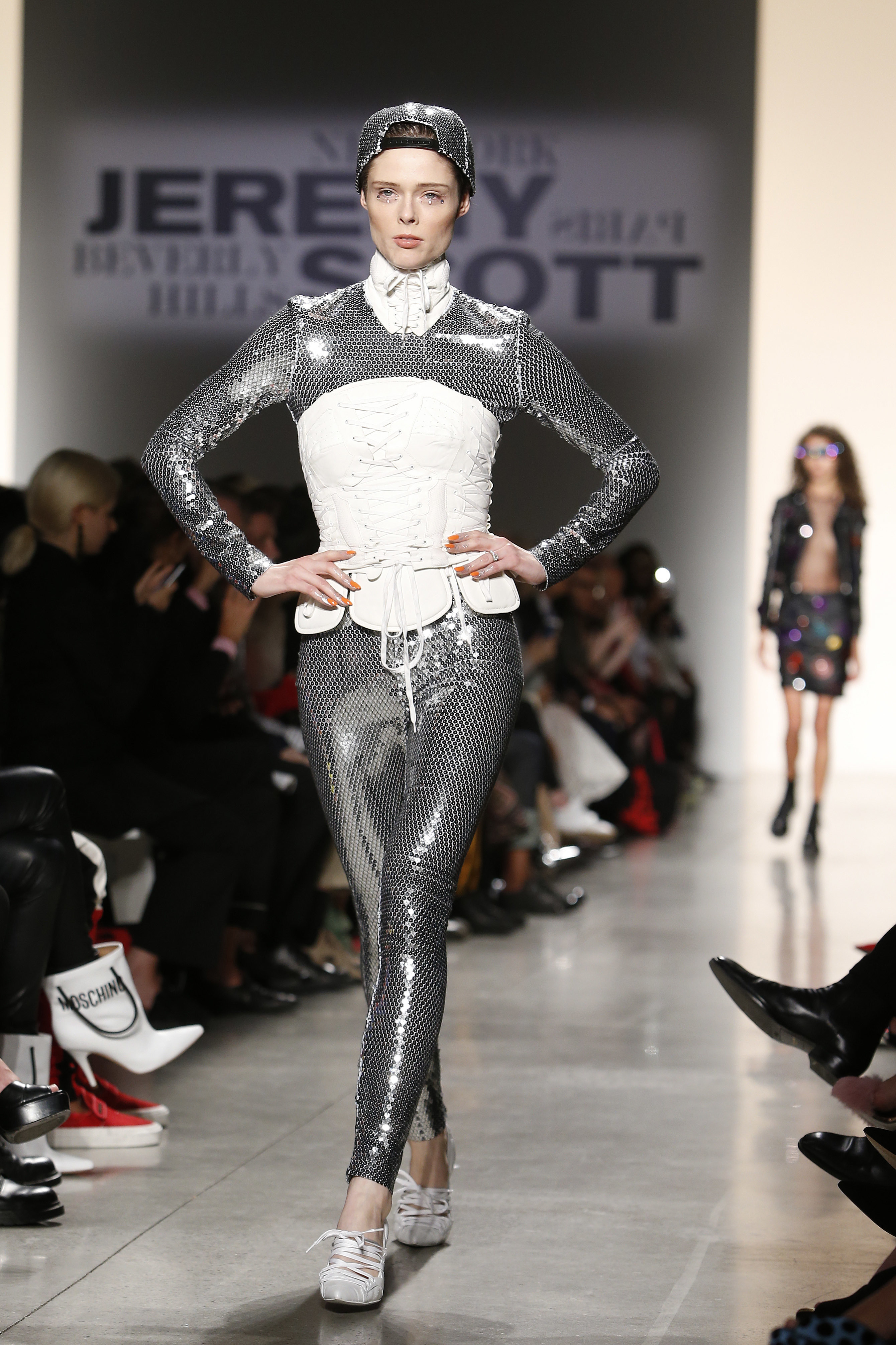 Jeremy Scott glitter jumpsuit