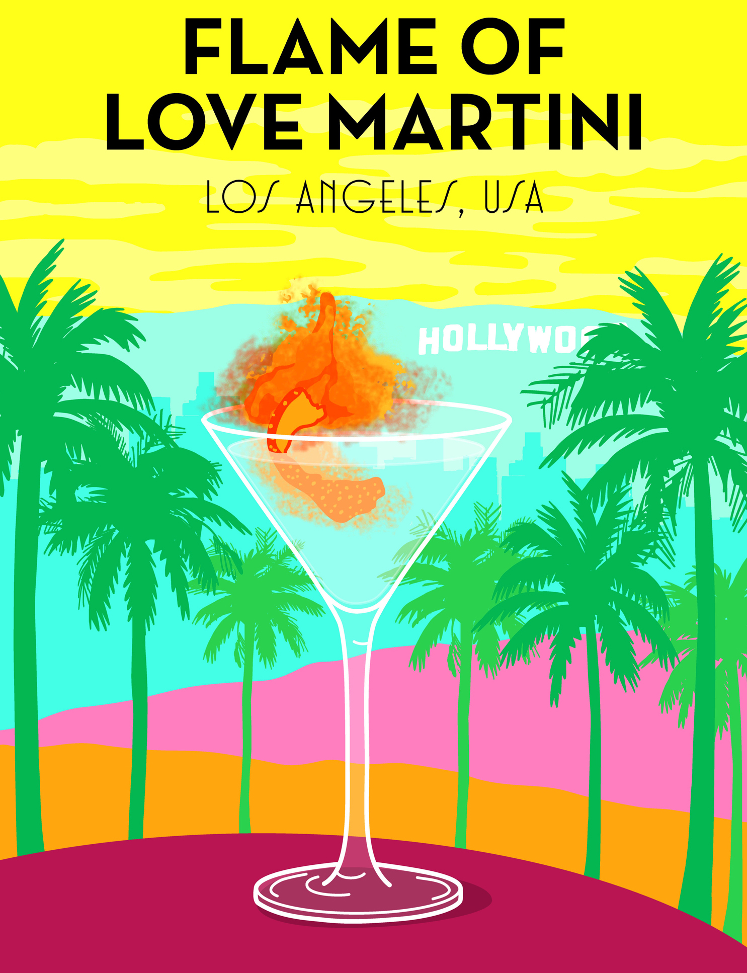 Flame of Love Martini (Alice Oehr/PA)