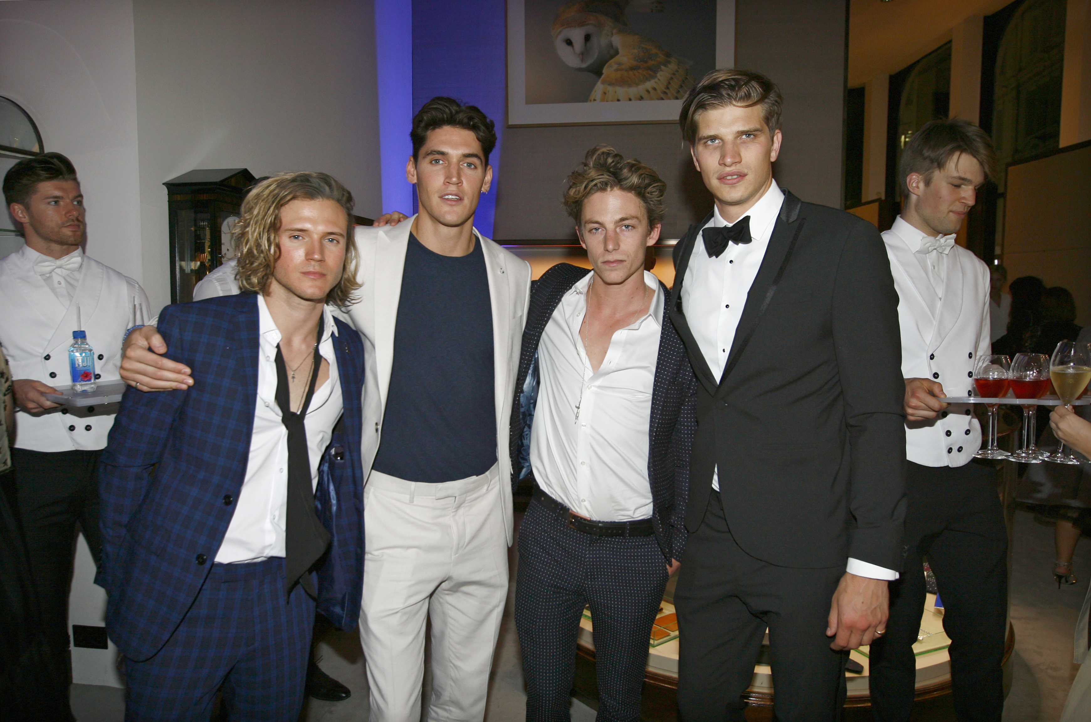 Huntington-Whiteley and Ben Nordberg at the after party for Asprey's One for the Boys Fashion Ball