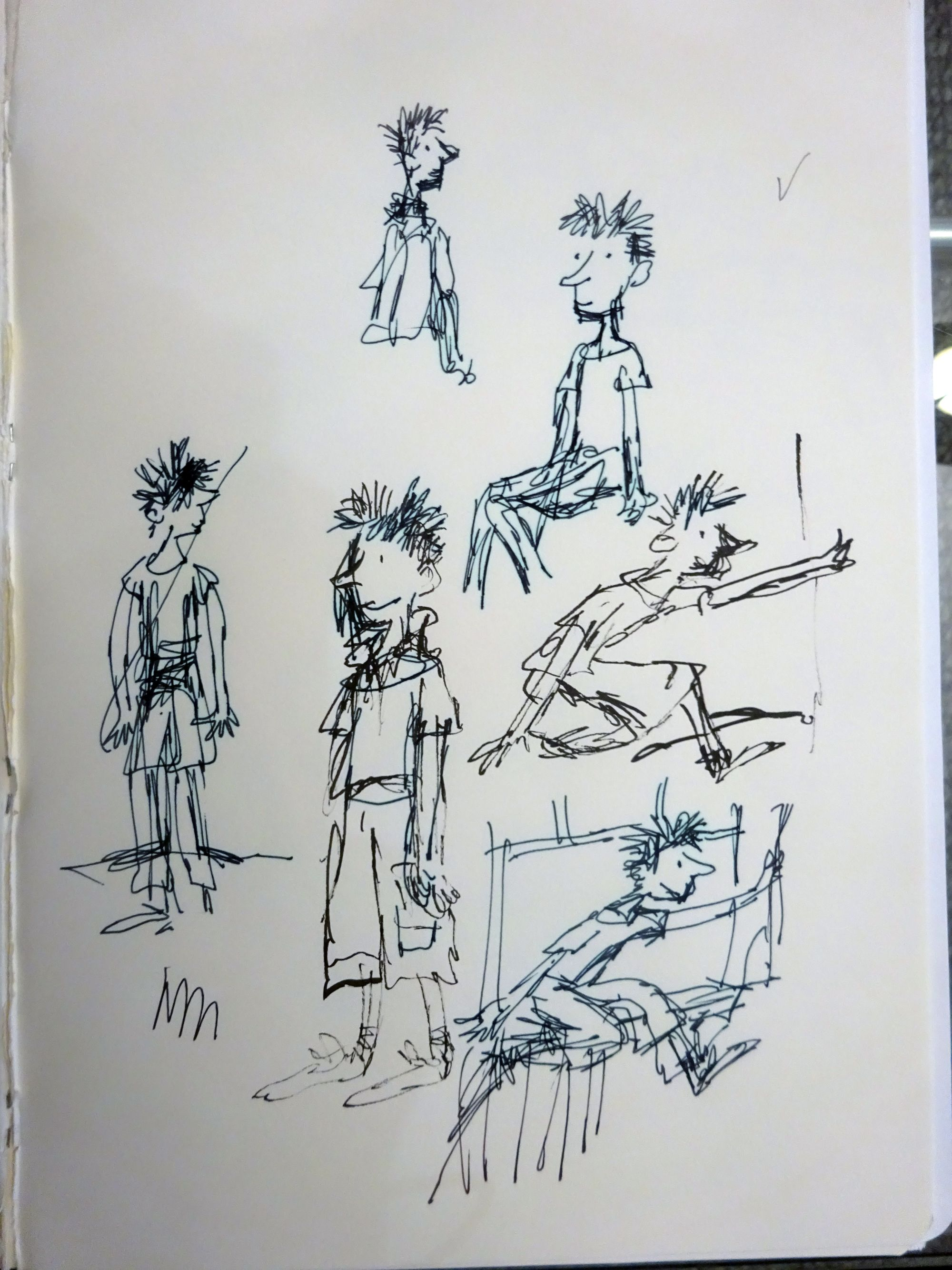Quentin Blake's sketches of Billy (Quentin Blake/PA)
