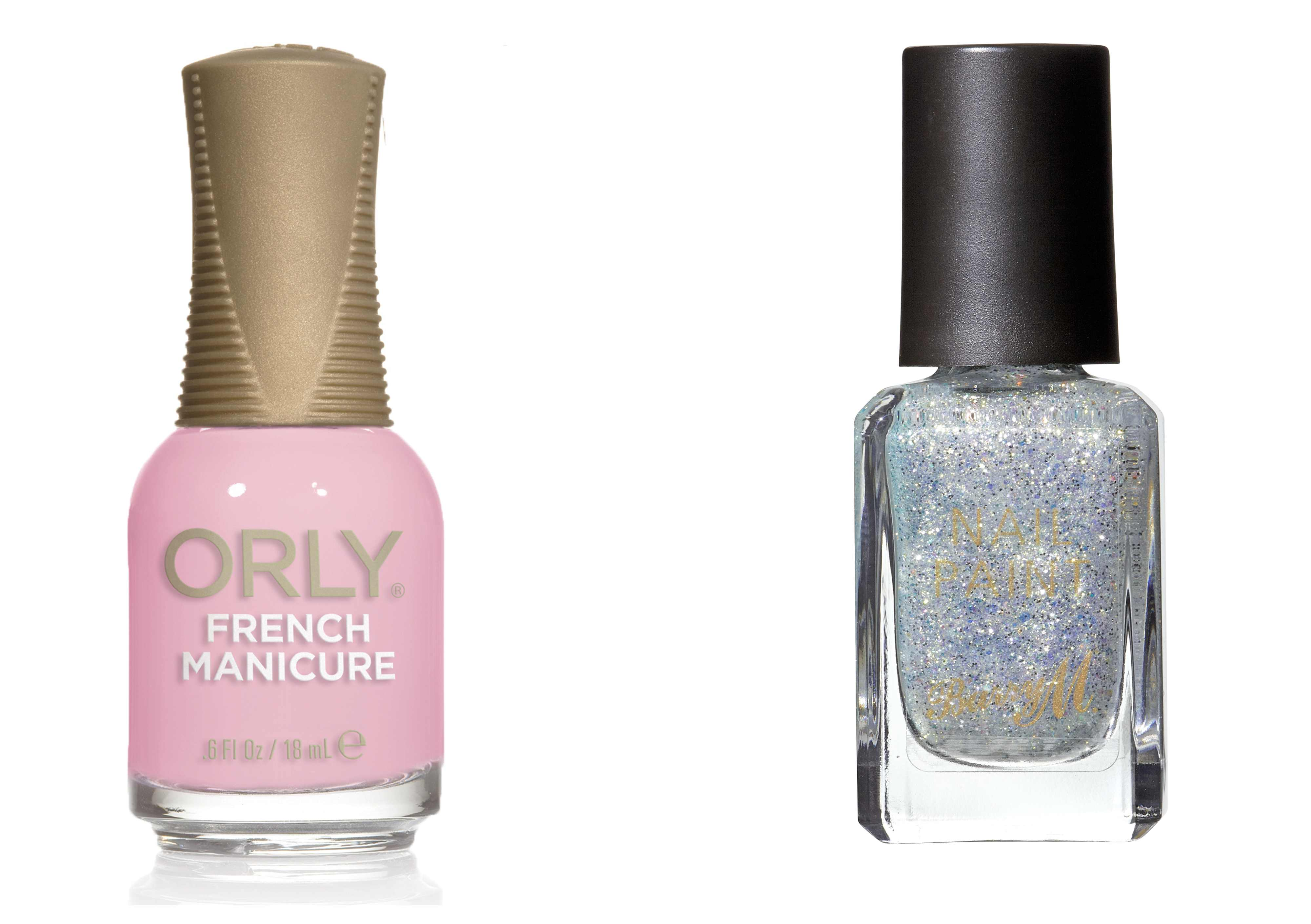 Orly Rose Coloured Glasses nail polish Barry M Classic Glitter Nail Paint in Whimsical Dreams (Orly/Barry M/PA)
