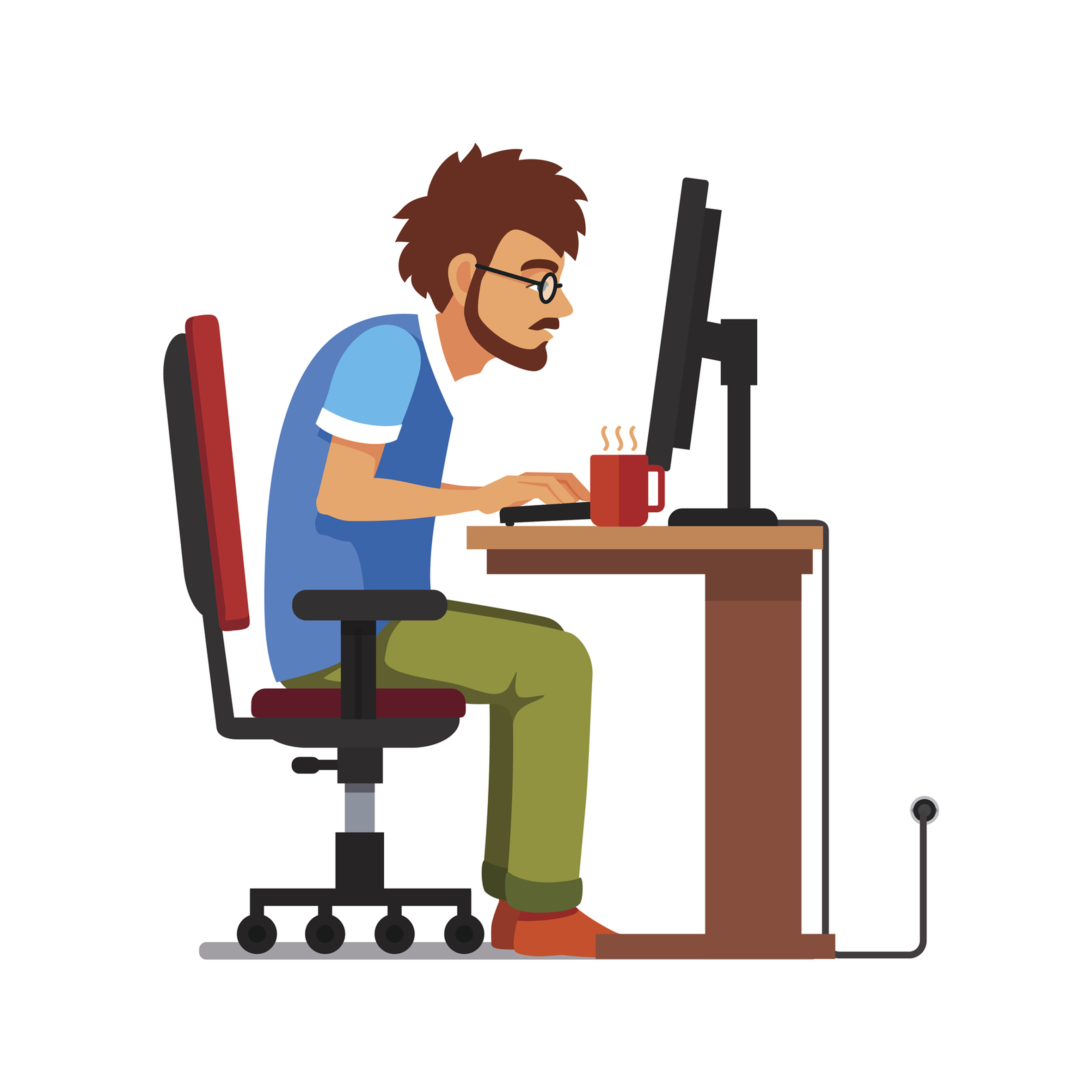 A generic illustration of a male at a computer (Thinkstock/PA)
