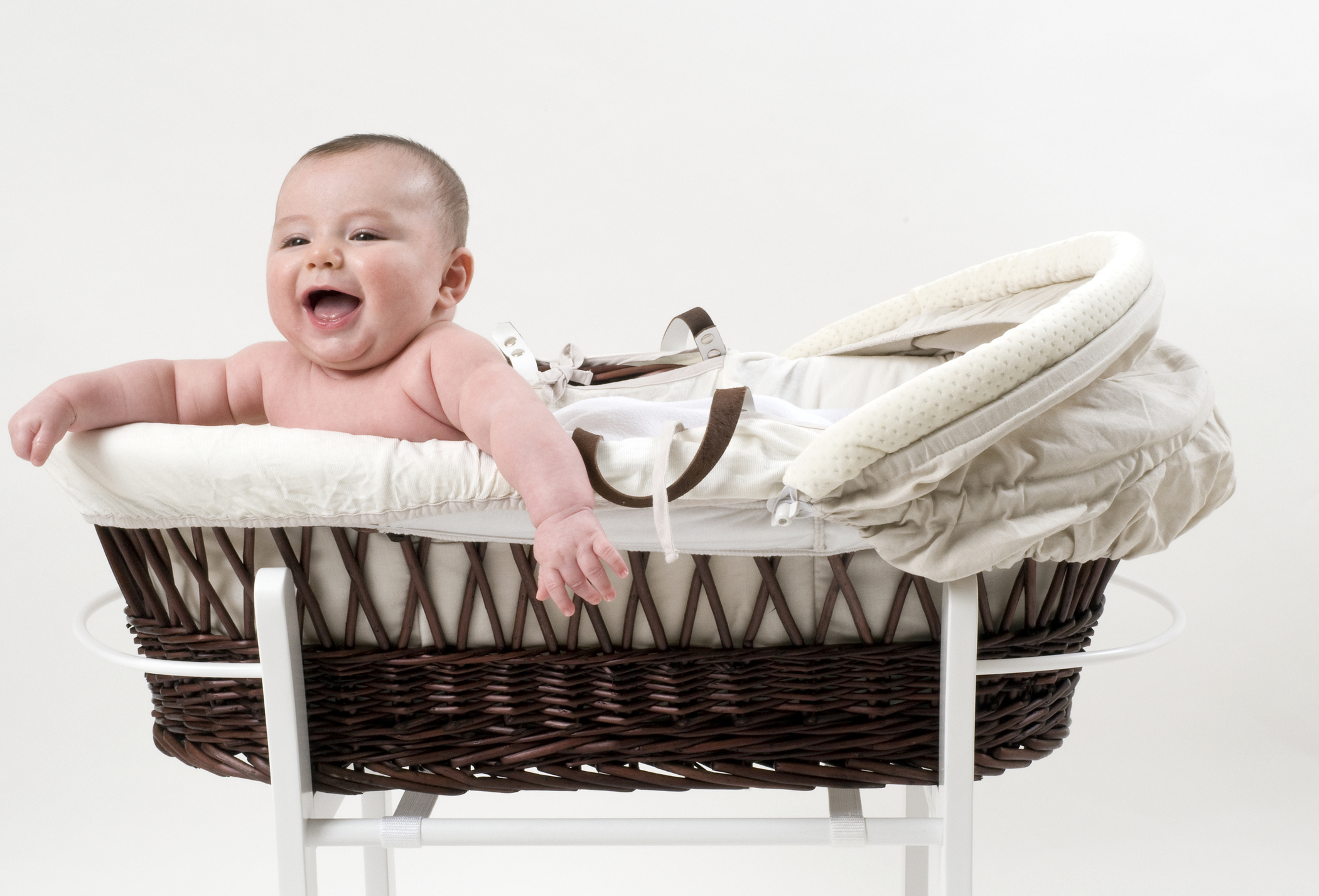 Newborn baby in a moses basket (Thinkstock/PA)