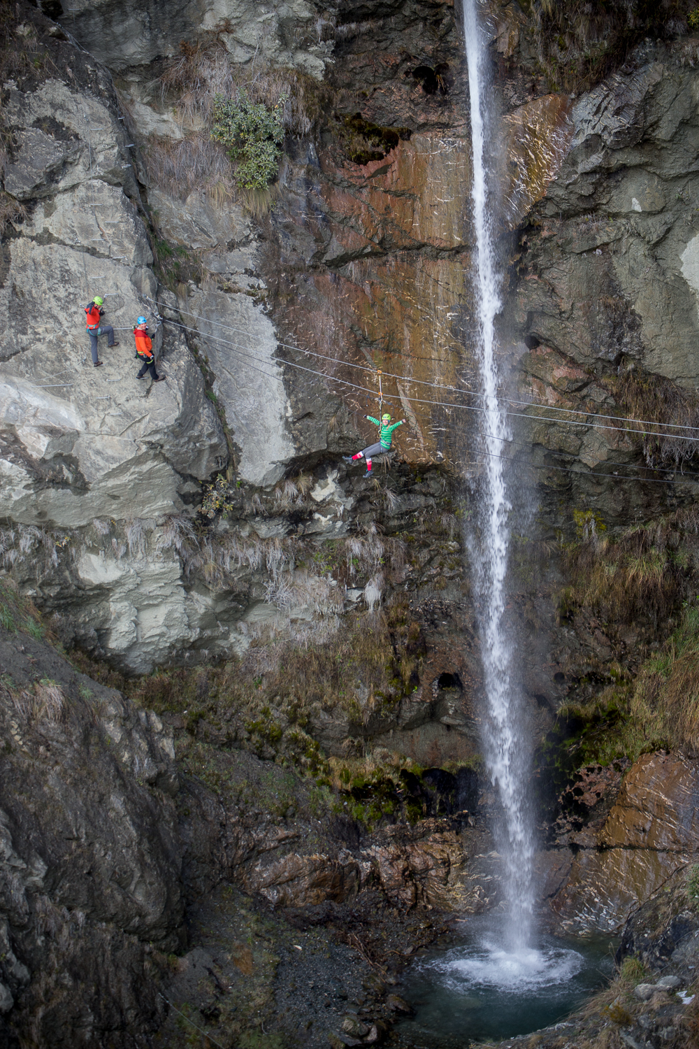Reaching the bottom of the via ferrata