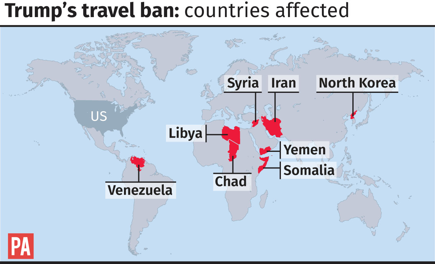 Trump's travel ben: countries affected