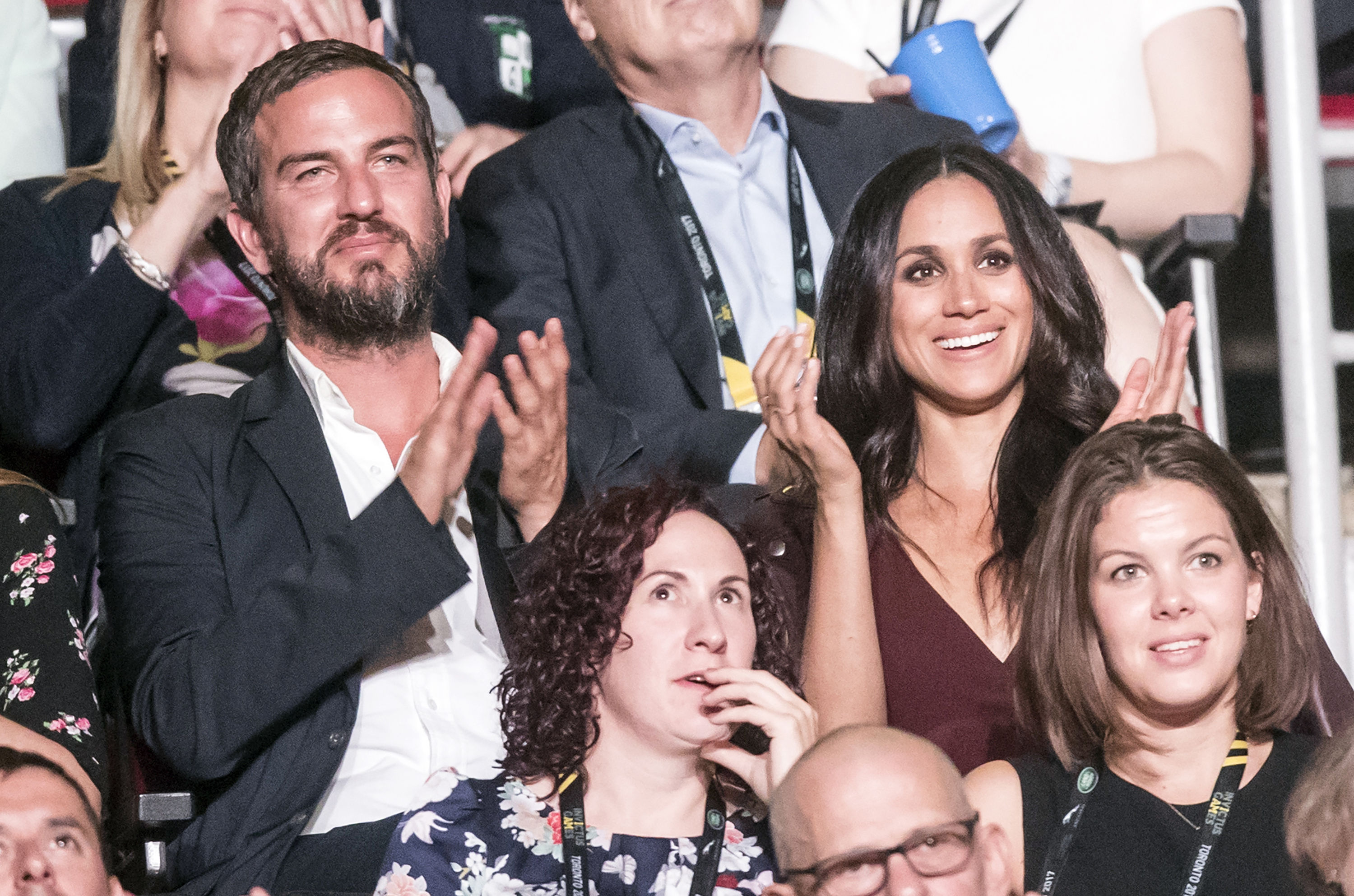 Meghan Markle attends the Opening Ceremony of the 2017 Invictus Games at the Air Canada Centre in Toronto, Canada.