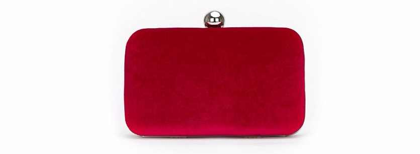Wallis Berry Velvet Clutch Box