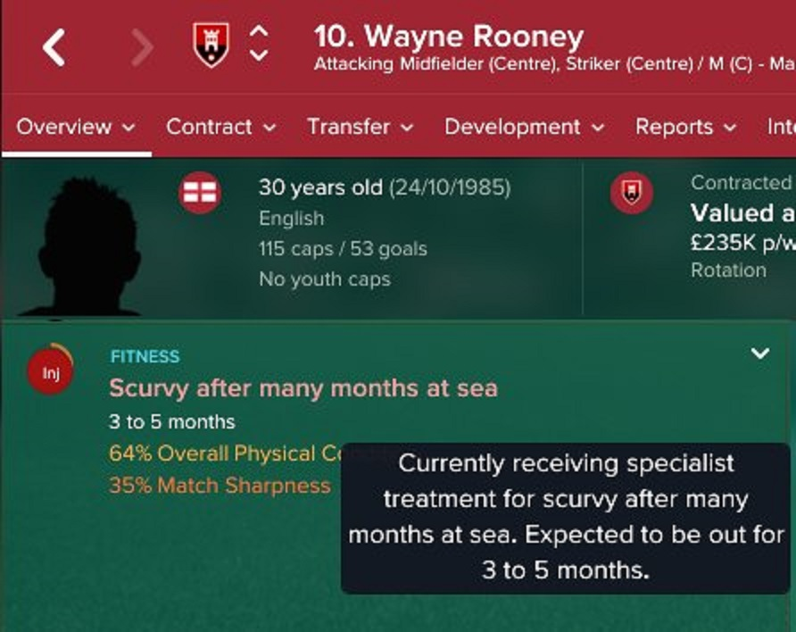 A Football Manager profile