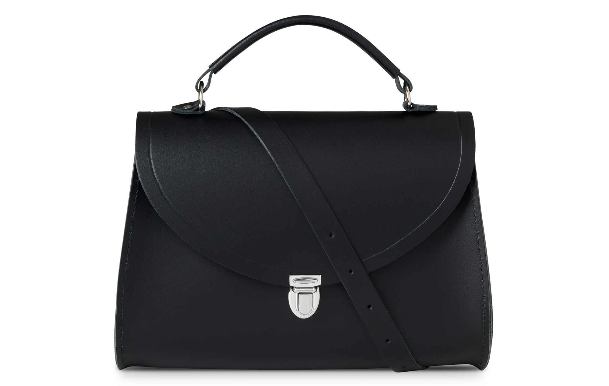 Cambridge Satchel Company Poppy Bag in Black Leather