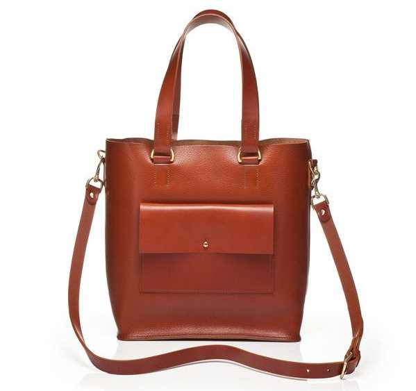 GraceGordonLDN Eleanor Milled Tan Leather Tote