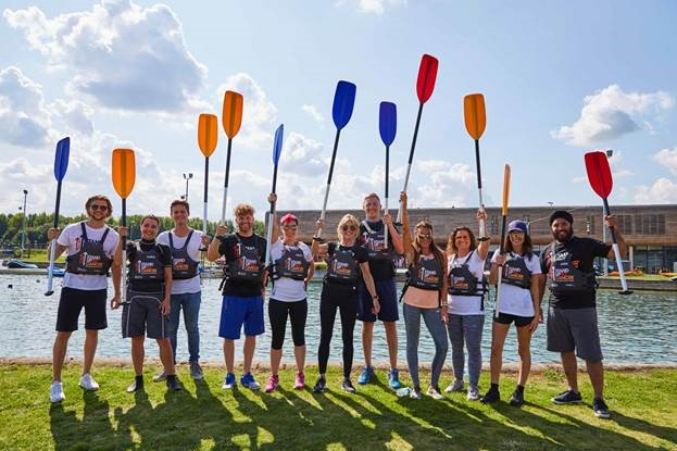 Stand Up To Cancer canoe challenge.