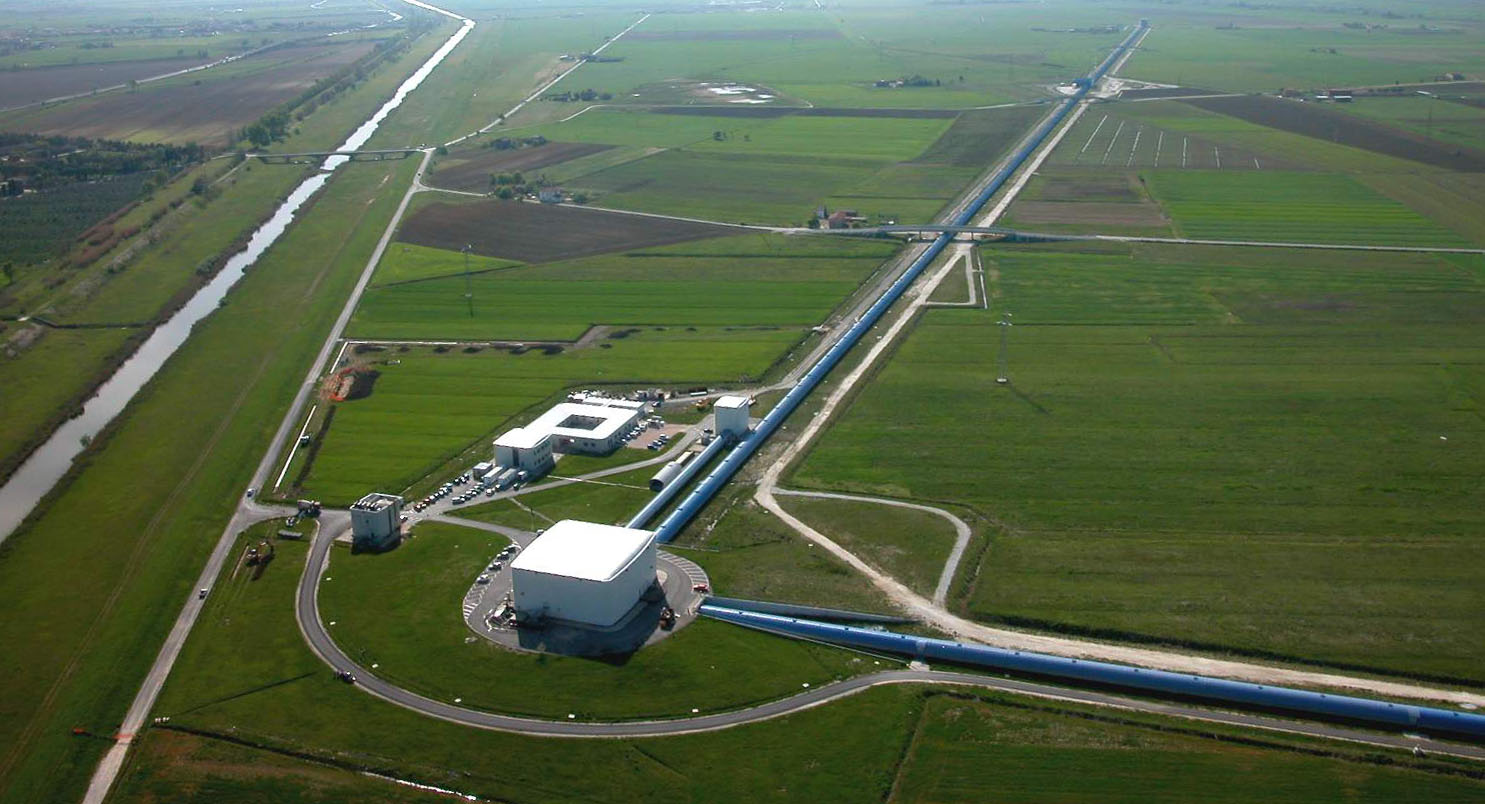 An aerial view of Virgo, near Pisa (The Virgo collaboration/CCO 1.0)