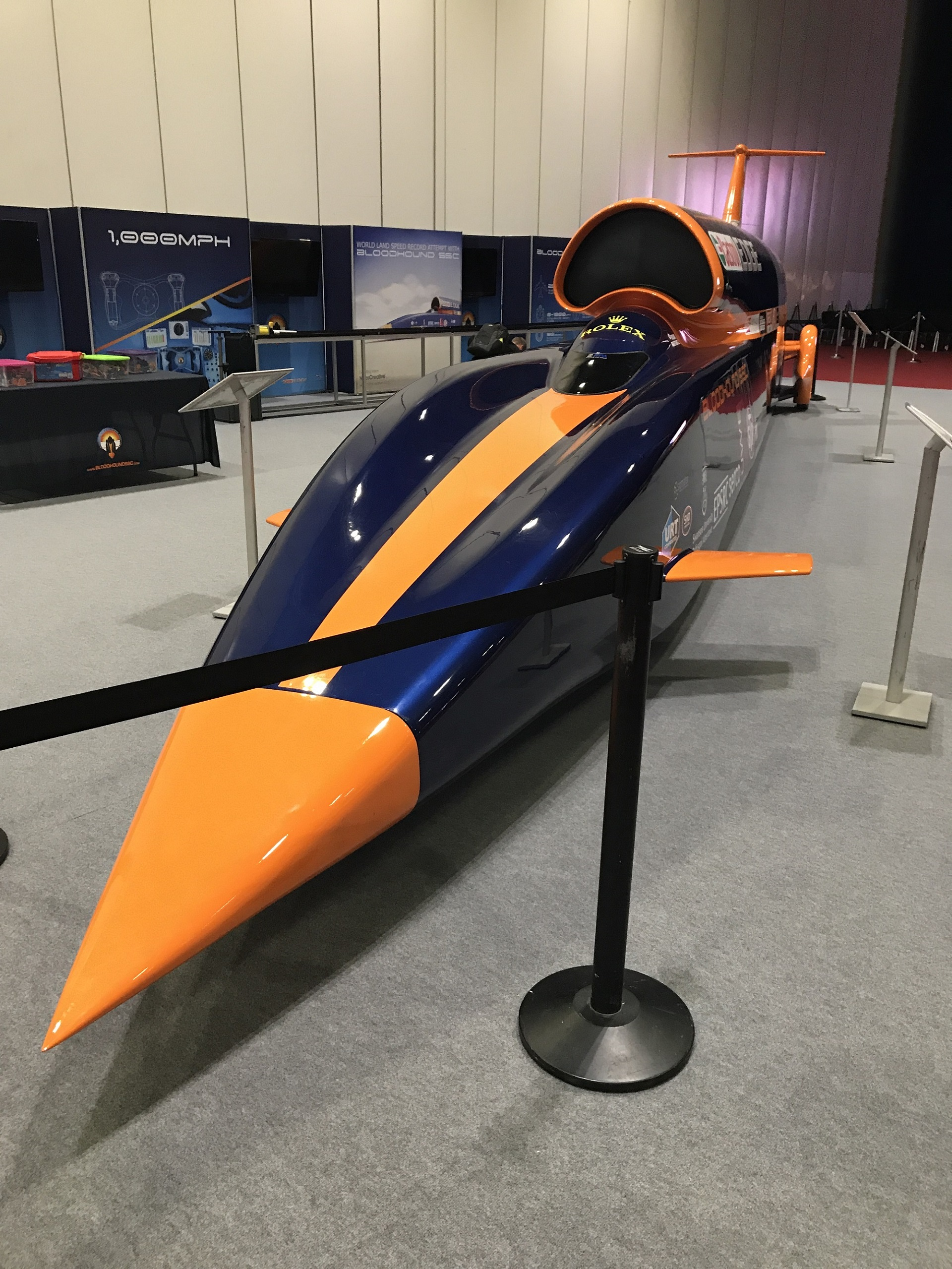 A model of the Bloodhound Supersonic Car