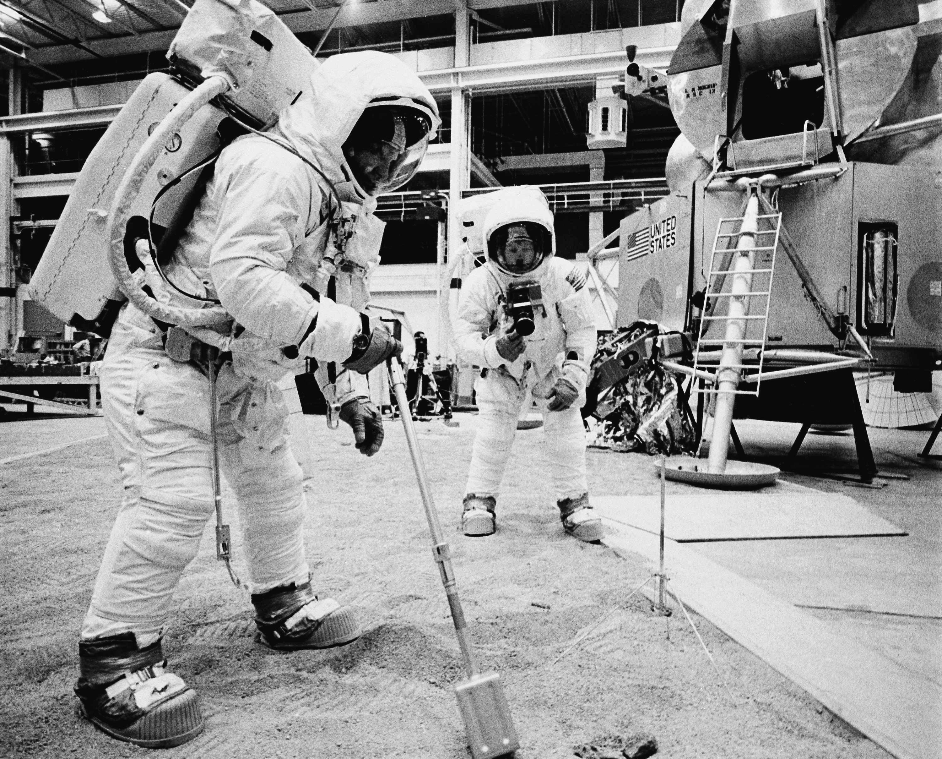 Buzz Aldrin and Neil Armstrong in Houston, Texas, 1969 (PA Archive/PA)