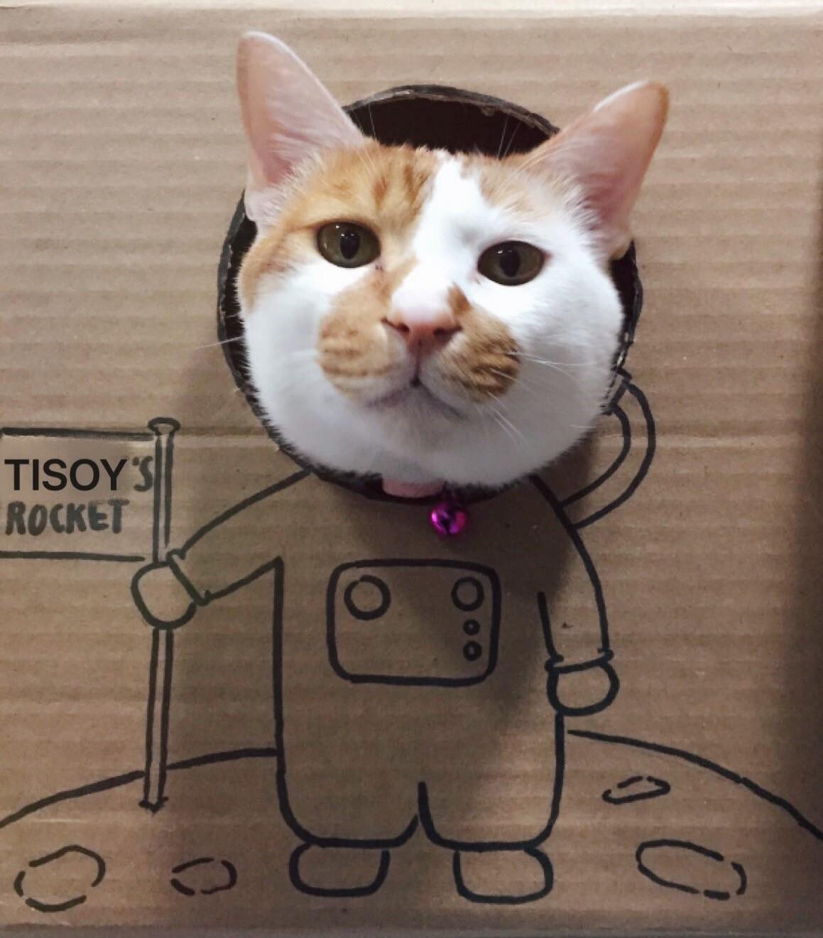 Tisoy as a spaceman
