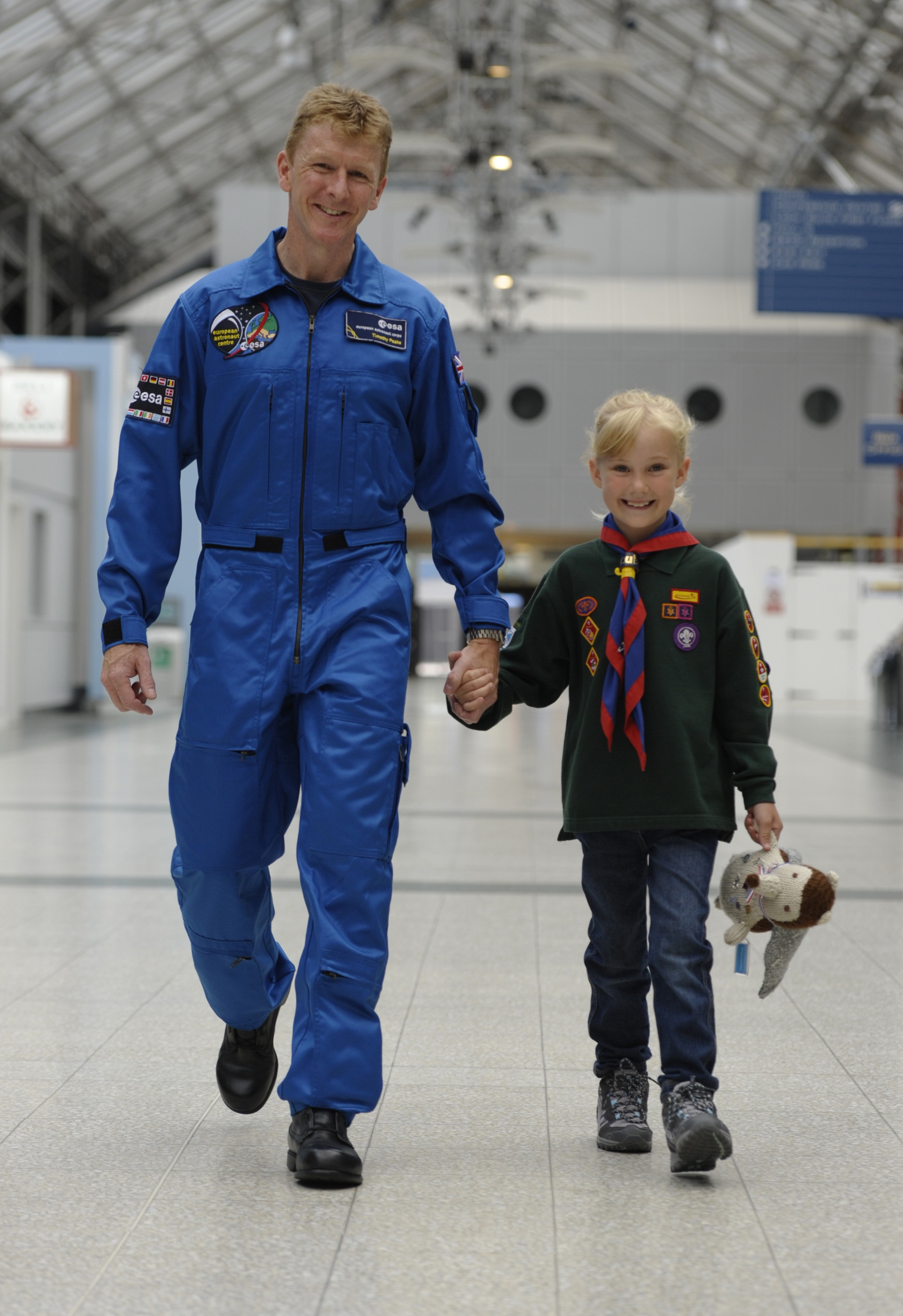 Major Tim Peake has become an official Scout Association ambassador.