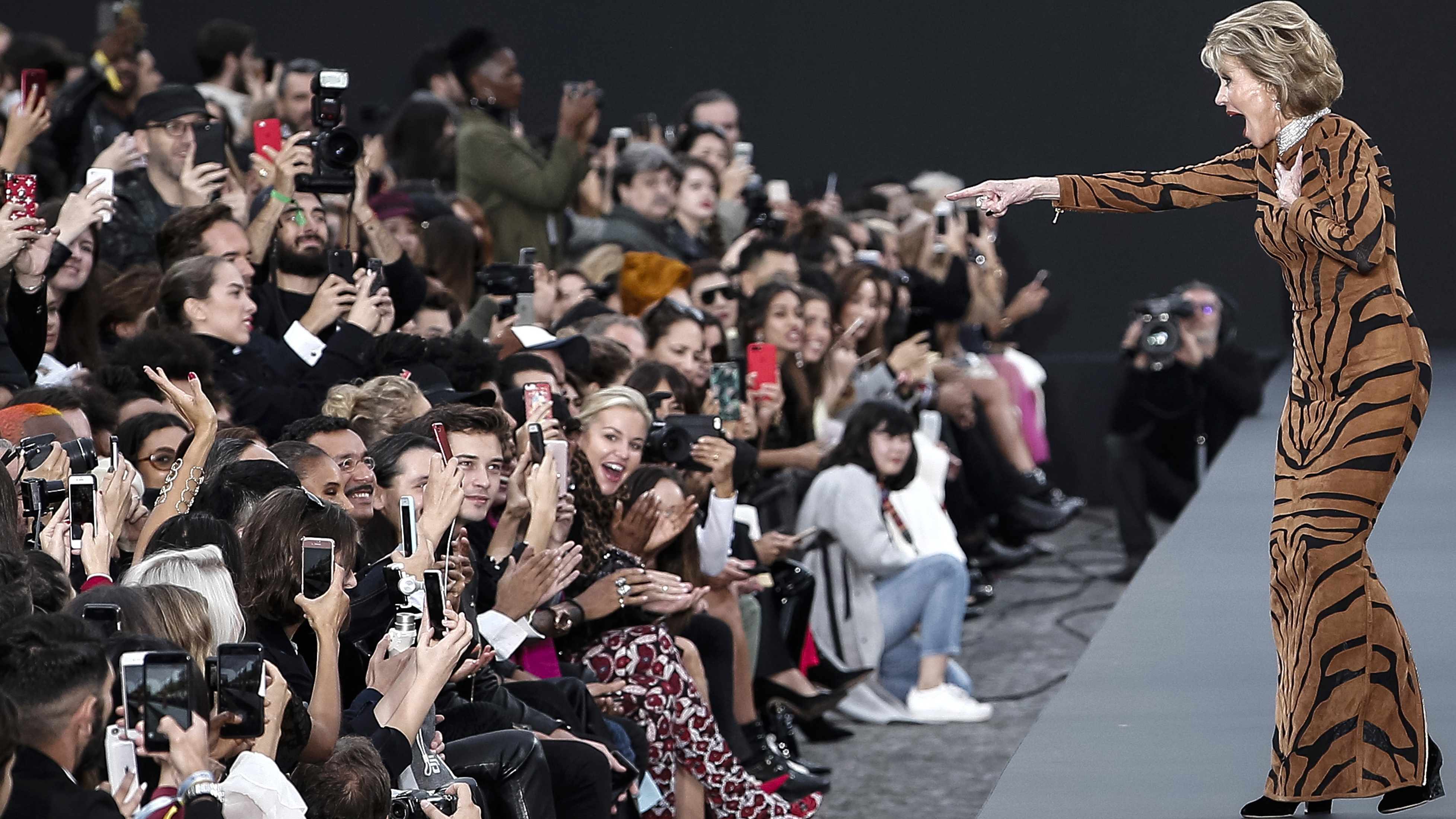 Cheryl struts her stuff on the catwalk at Paris Fashion Week