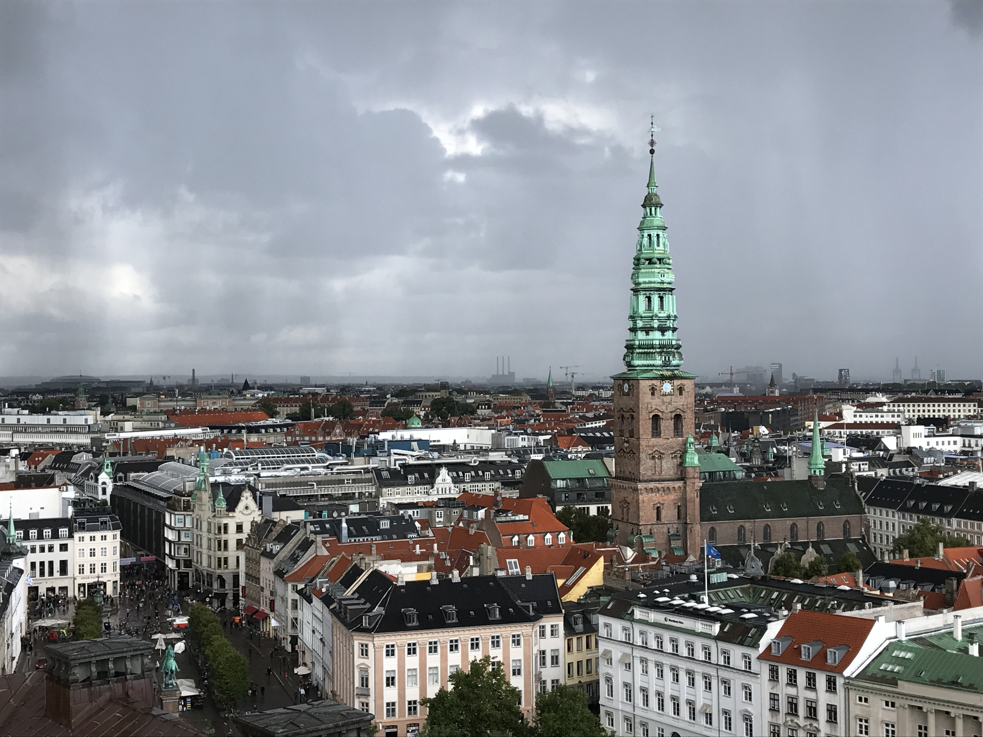 The view from Christiansborg Palace tower (Lauren Taylor/PA)