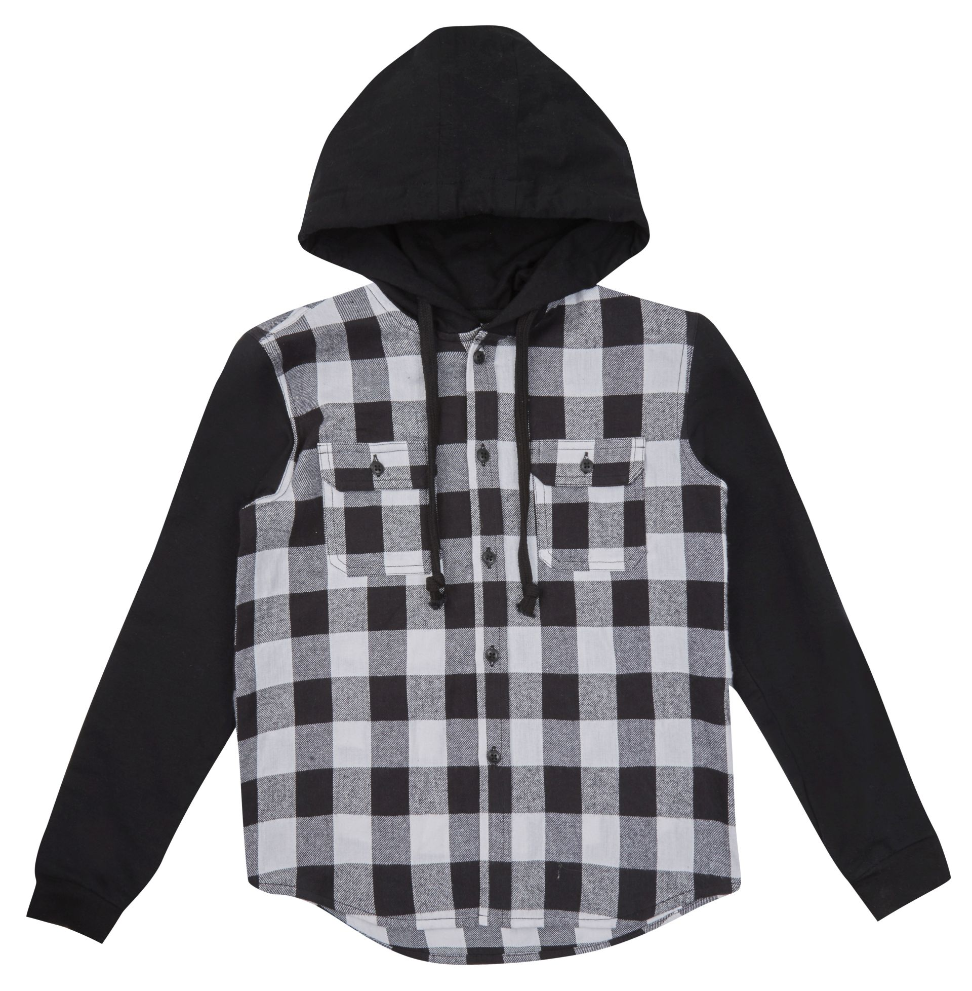 George Mock Layer Hooded Check Shirt, from Asda