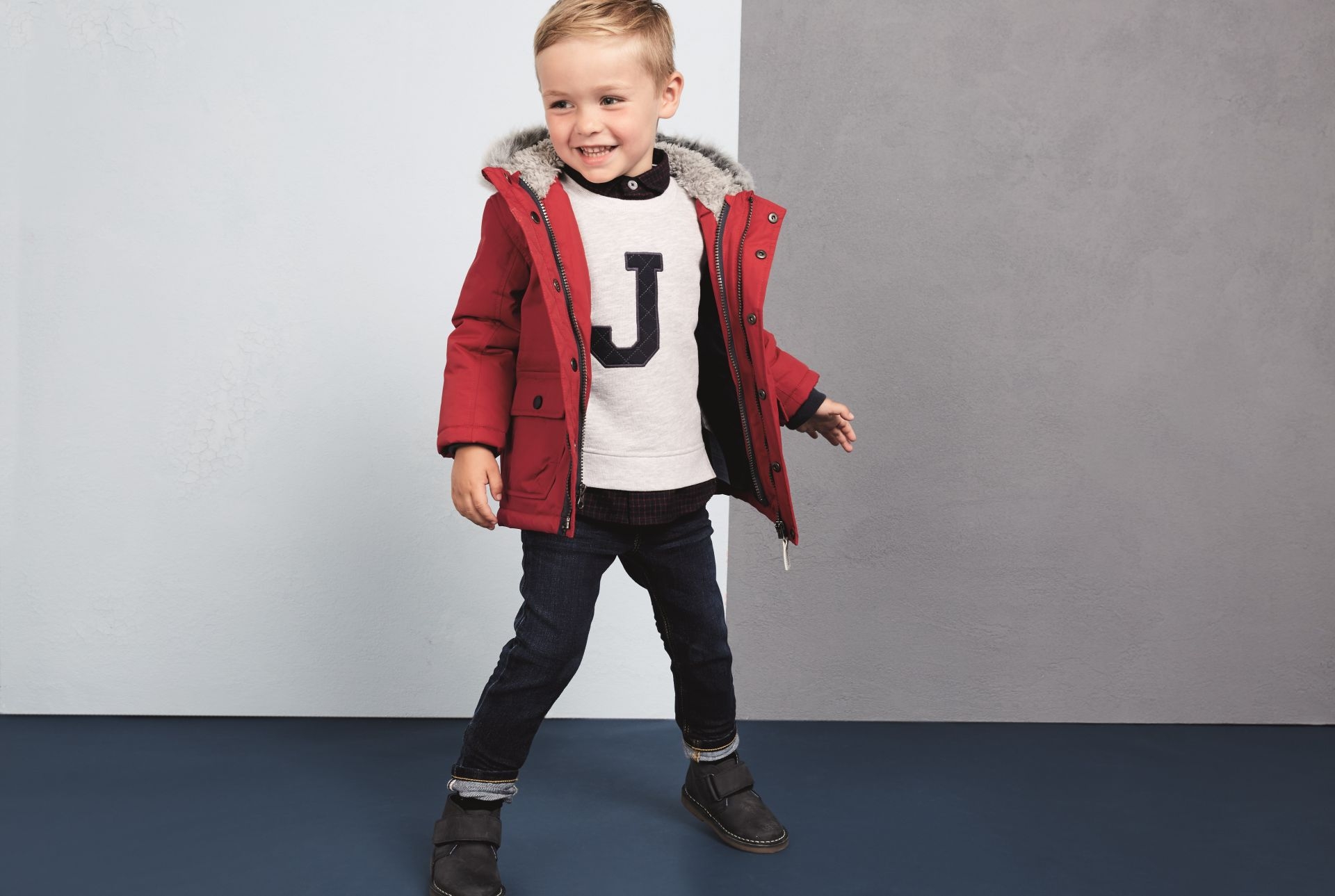 A boy in a J by Jasper Conran outfit