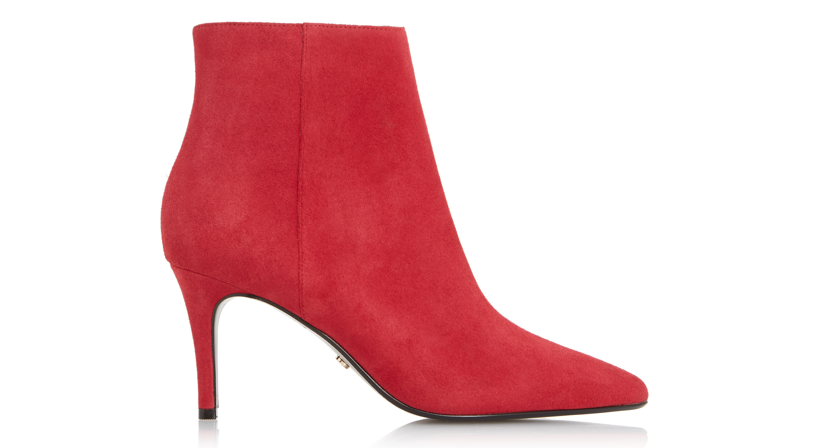 Dune Osha Red Ankle Boots