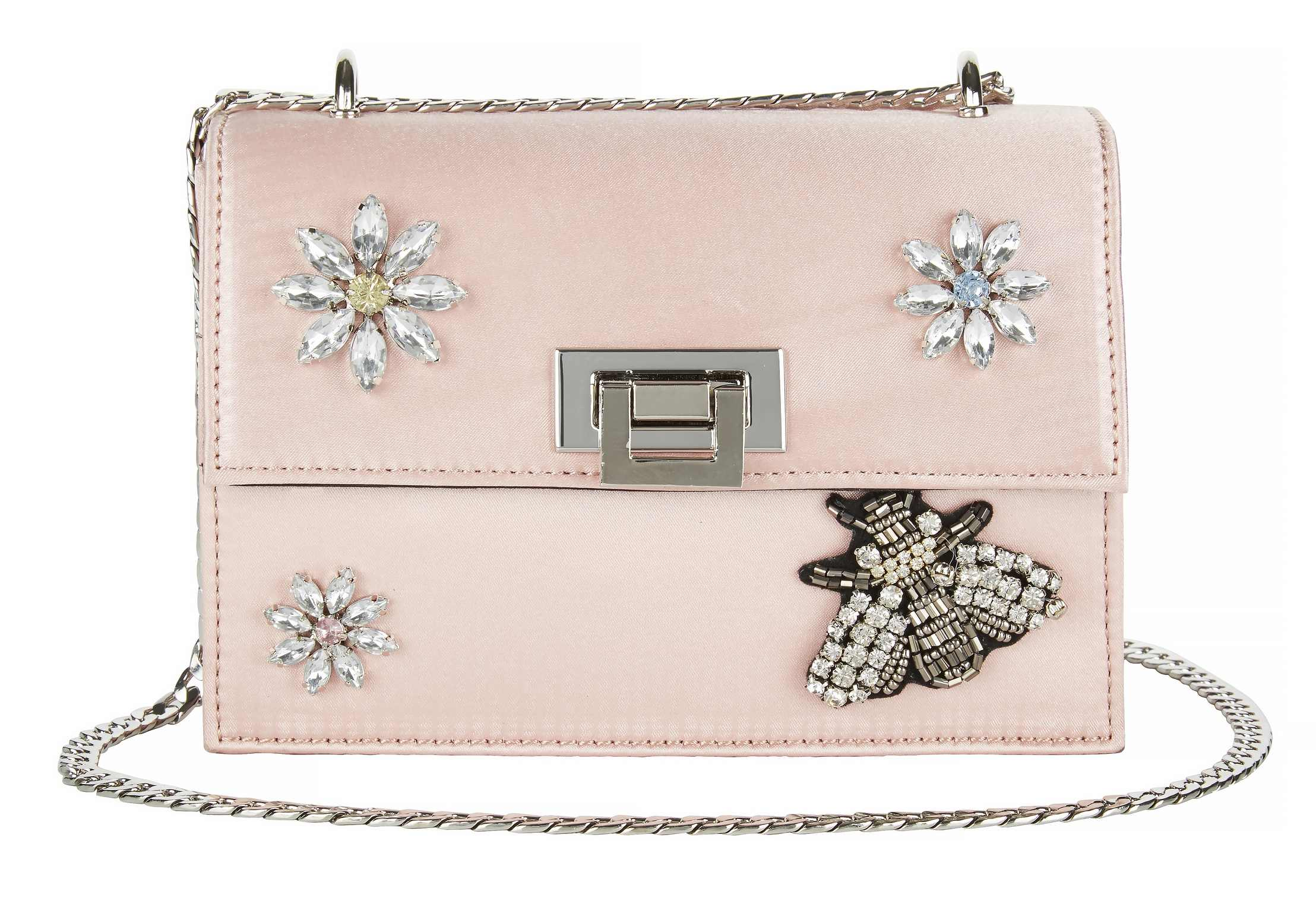 6. V by Very Flower and Bumble Bee Embellished Crossbody Bag, £28 (Very/PA)