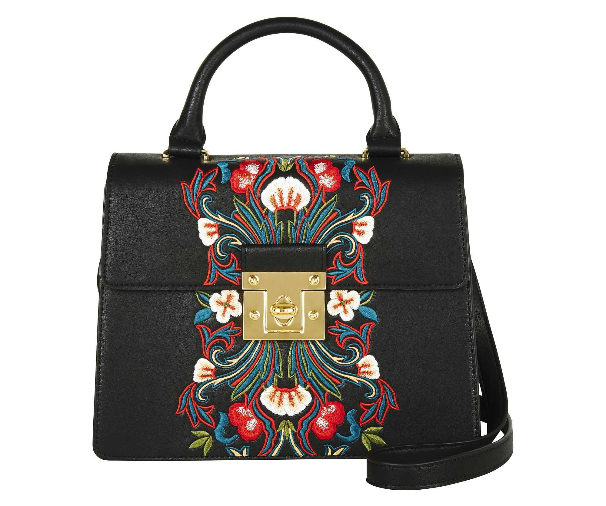 Marks and Spencer Collection Faux Leather Embroidered Tote Bag, £45