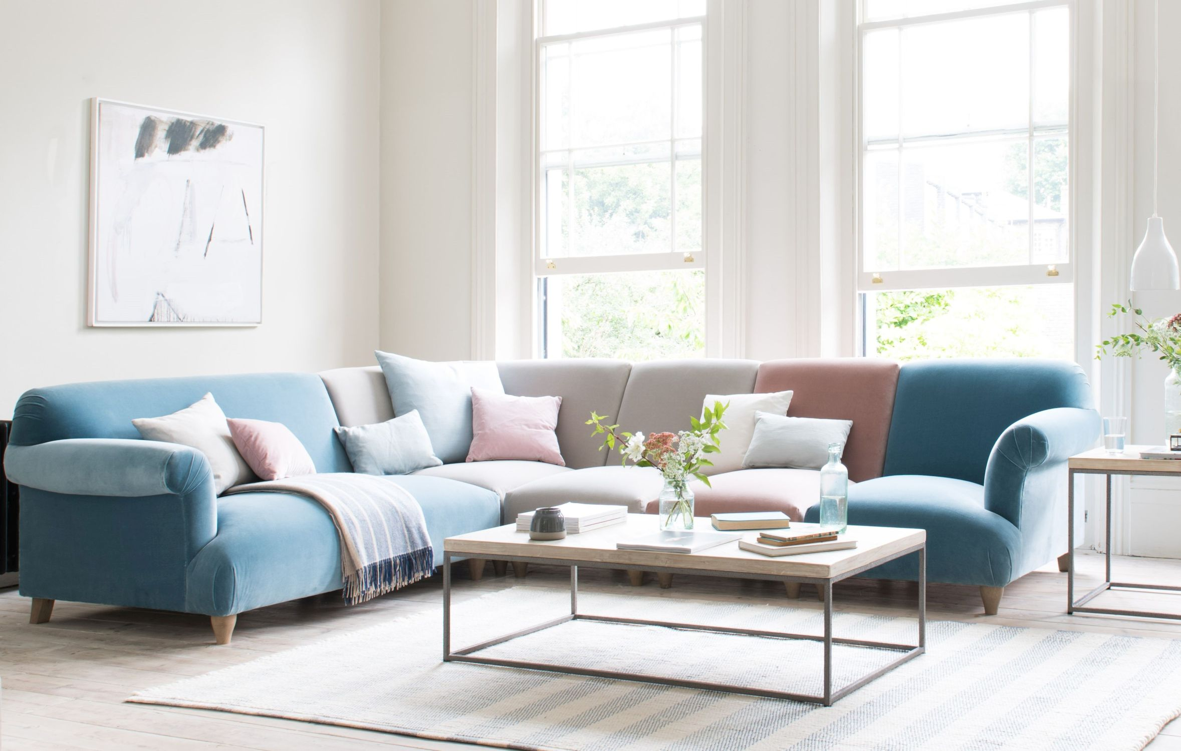Modular Souffle sofa, from £655, which can be upholstered in one colour/fabric or a variety of colours/fabrics, Loaf (Loaf/PA)