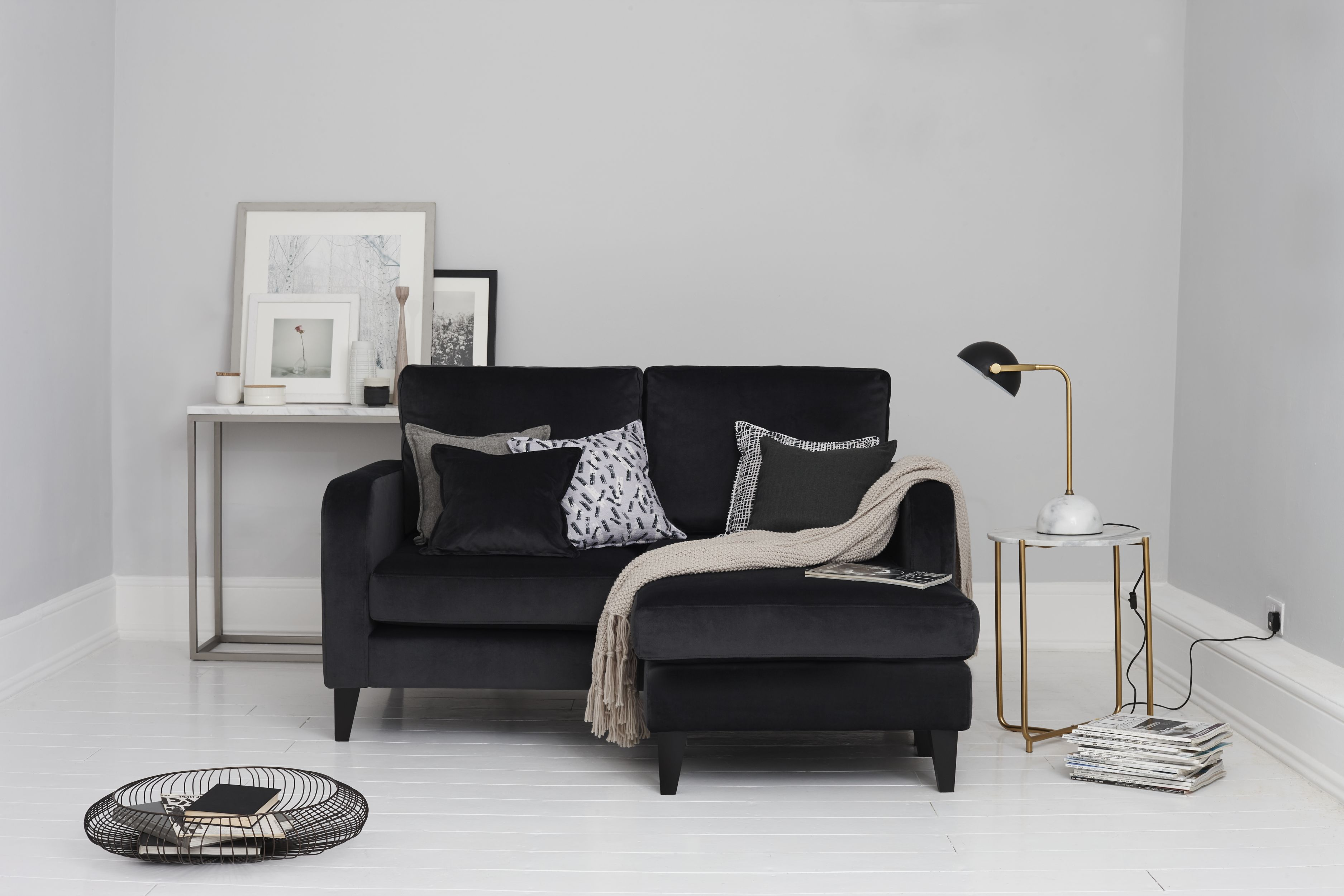 Truth large lounger sofa, £699, from the Capsule collection designed for small spaces, DFS (DFS/PA)