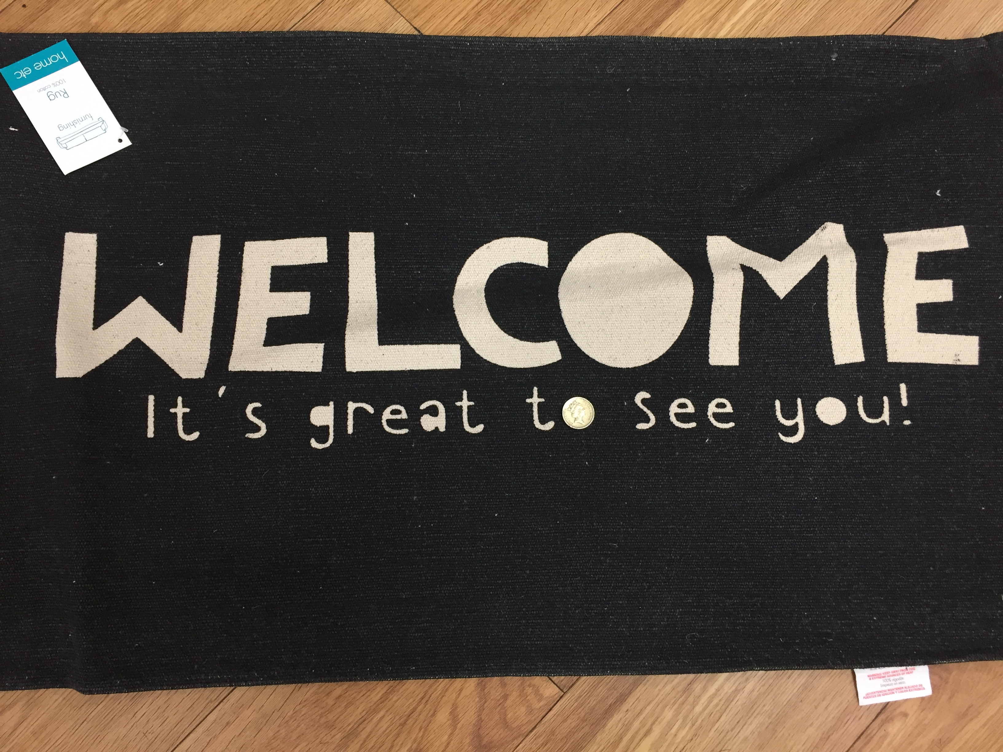A doormat on sale for £1 in Poundland