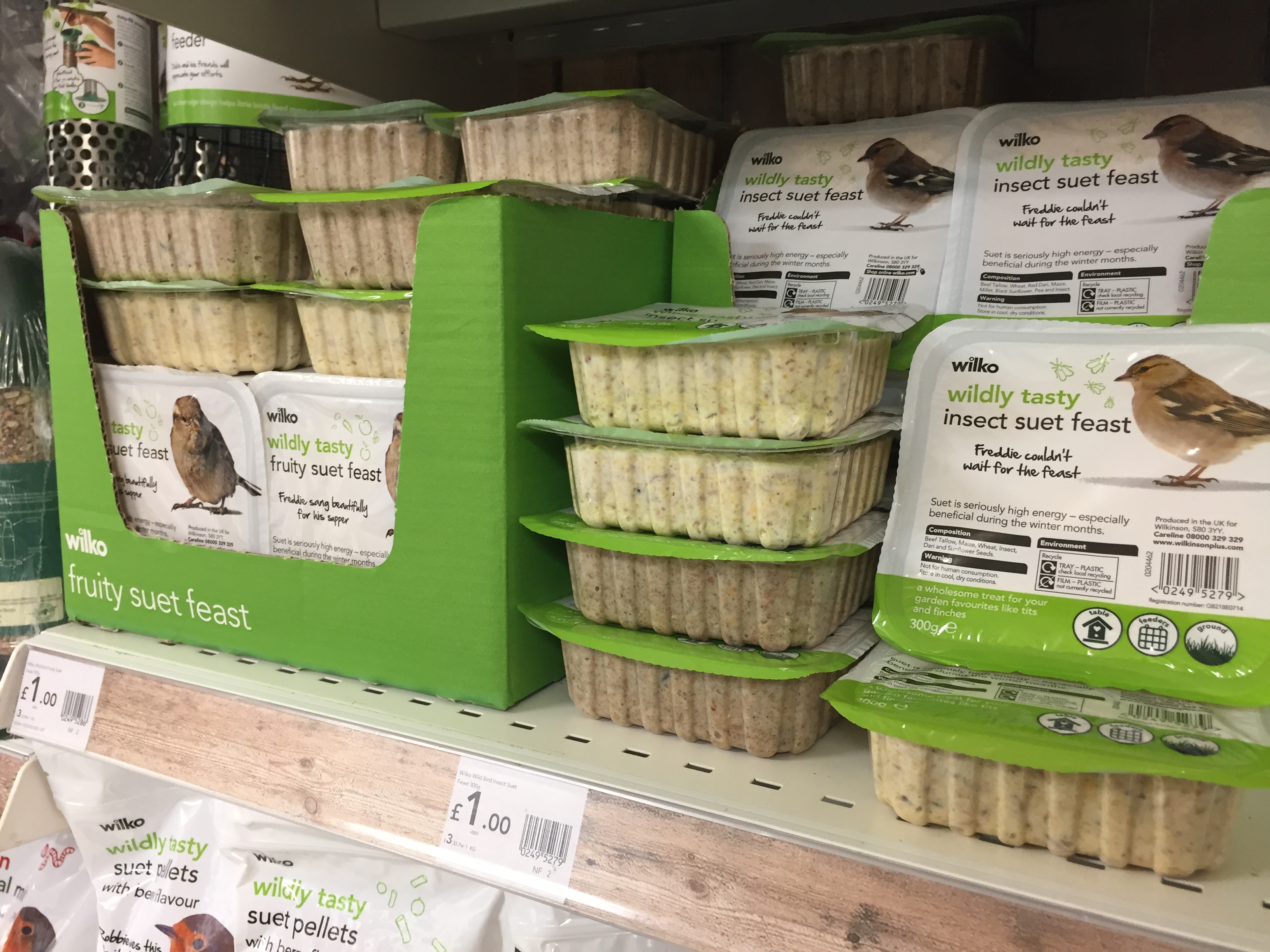 Insect suet feast on sale for £1 in Wilko (PA)
