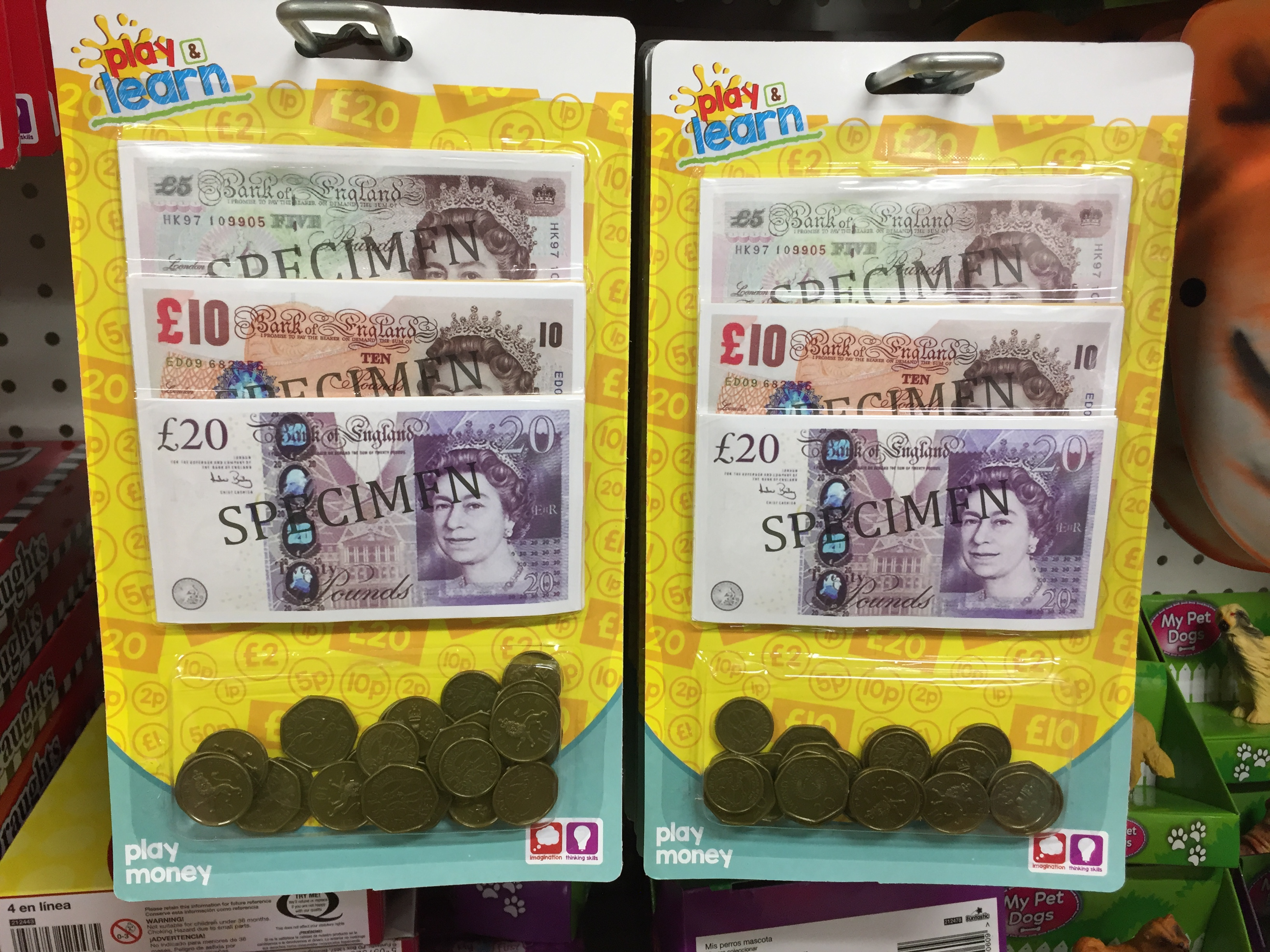 British toy money on sale for £1 (PA)