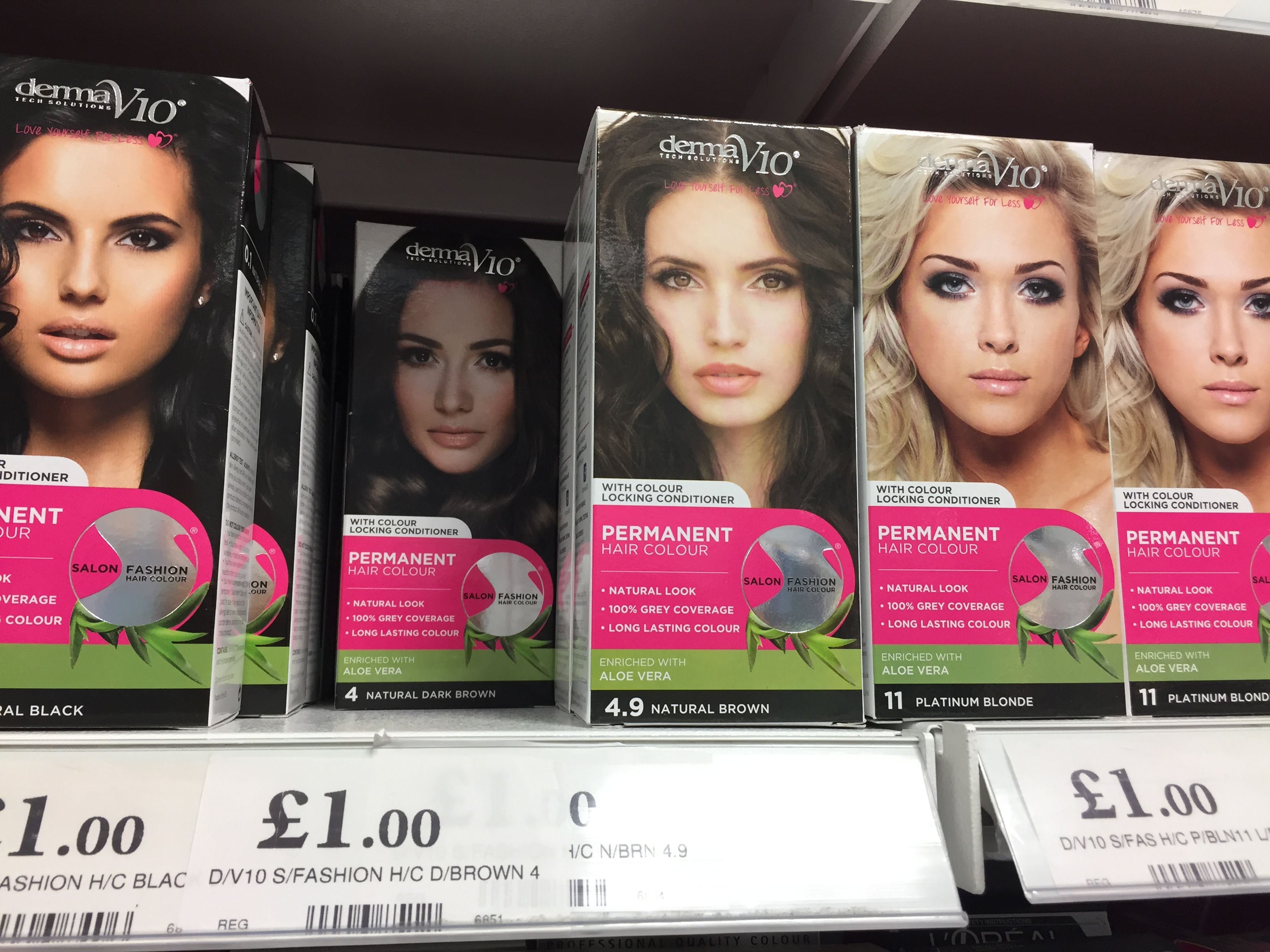 A £1 hair dye in Home Bargain (PA