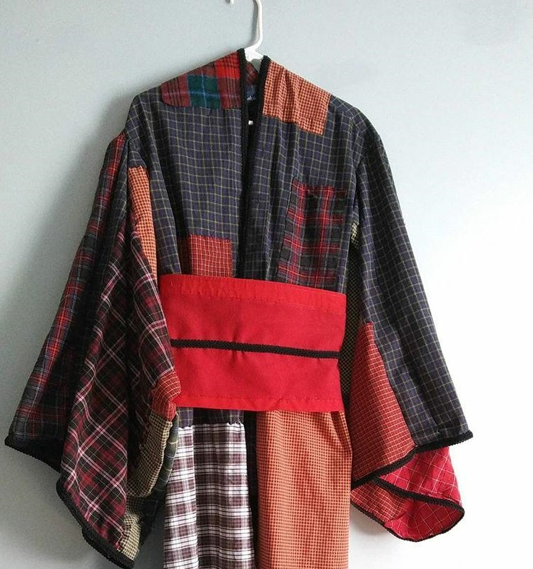 The kimono hanging up