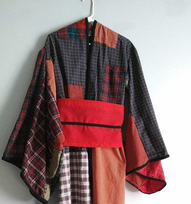 The kimono hanging up