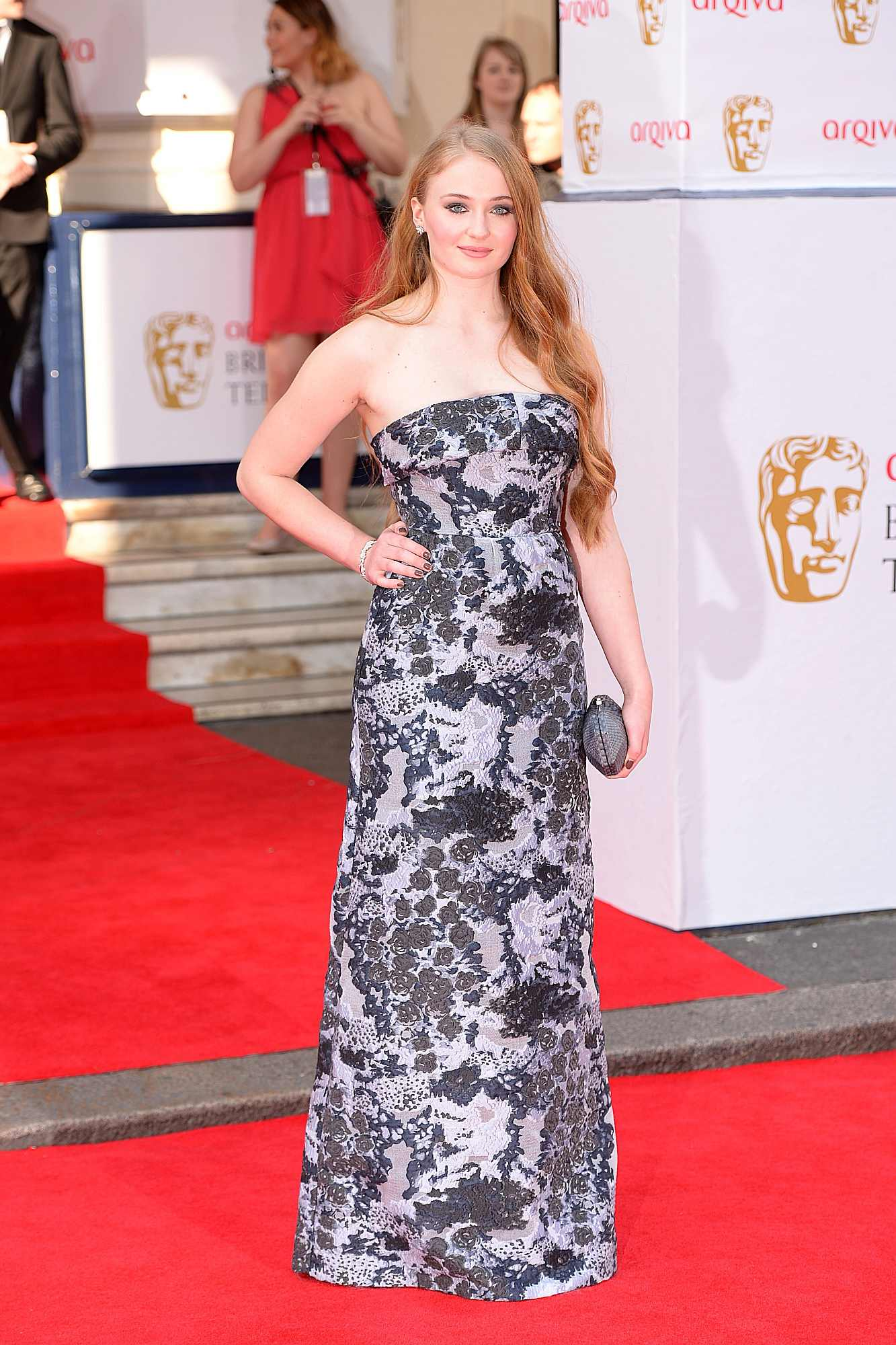 Sophie Turner arriving for the 2014 Arqiva British Academy Television Awards at the Theatre Royal, Drury Lane, London.