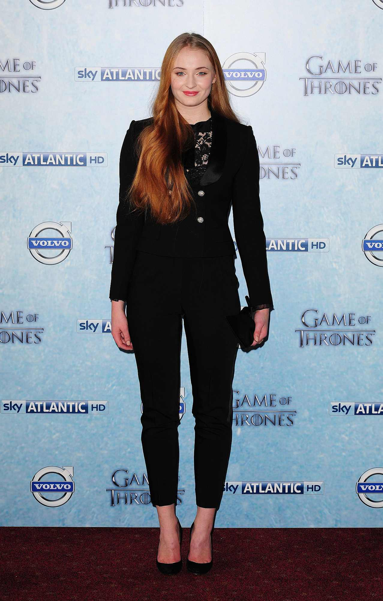 Sophie Turner attending Sky Atlantic's premiere of the fourth season of Game of Thrones at The Guildhall, London.