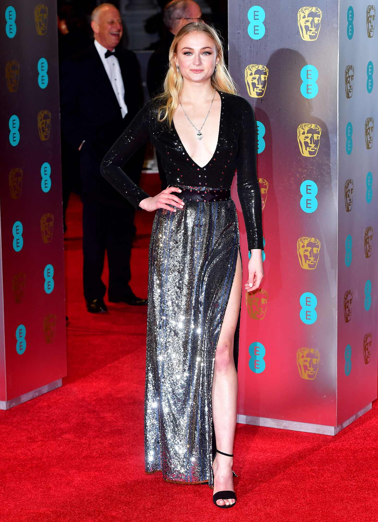 Sophie Turner attending the EE British Academy Film Awards held at the Royal Albert Hall, Kensington Gore, Kensington, London.