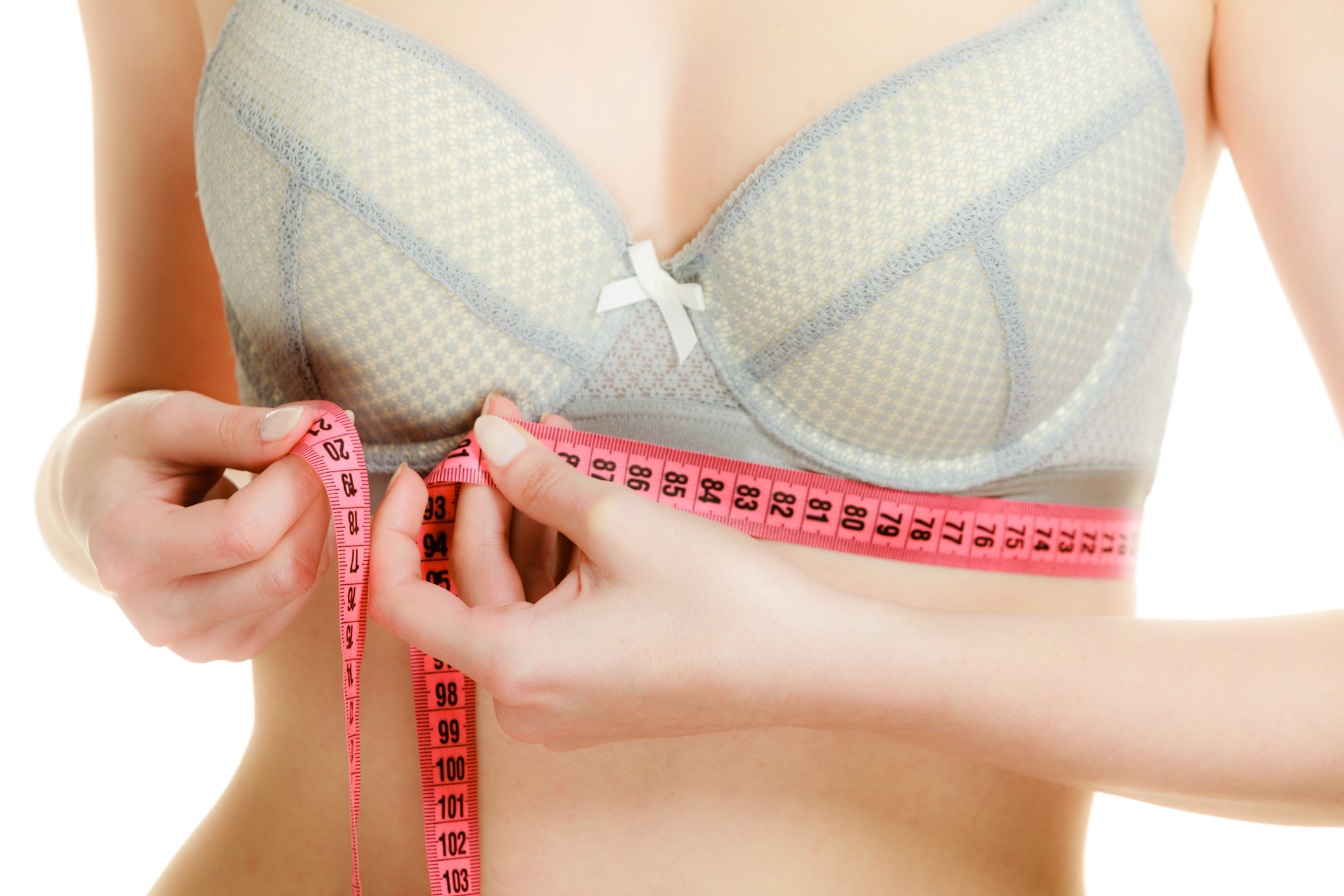 Getting measured for a bra (Thinkstock/PA)