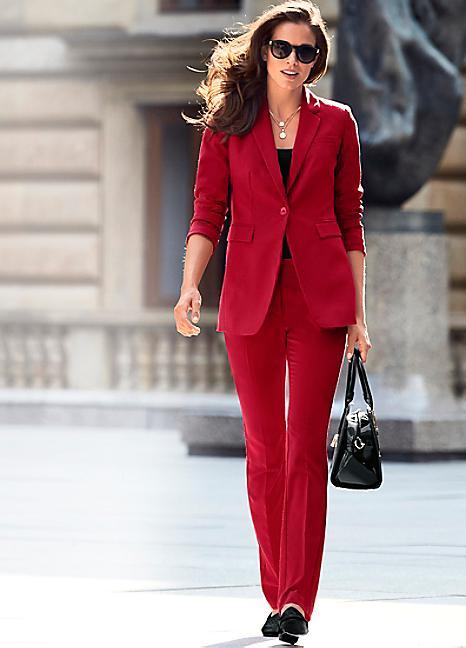 Patrizia Dini Red Trouser Suit