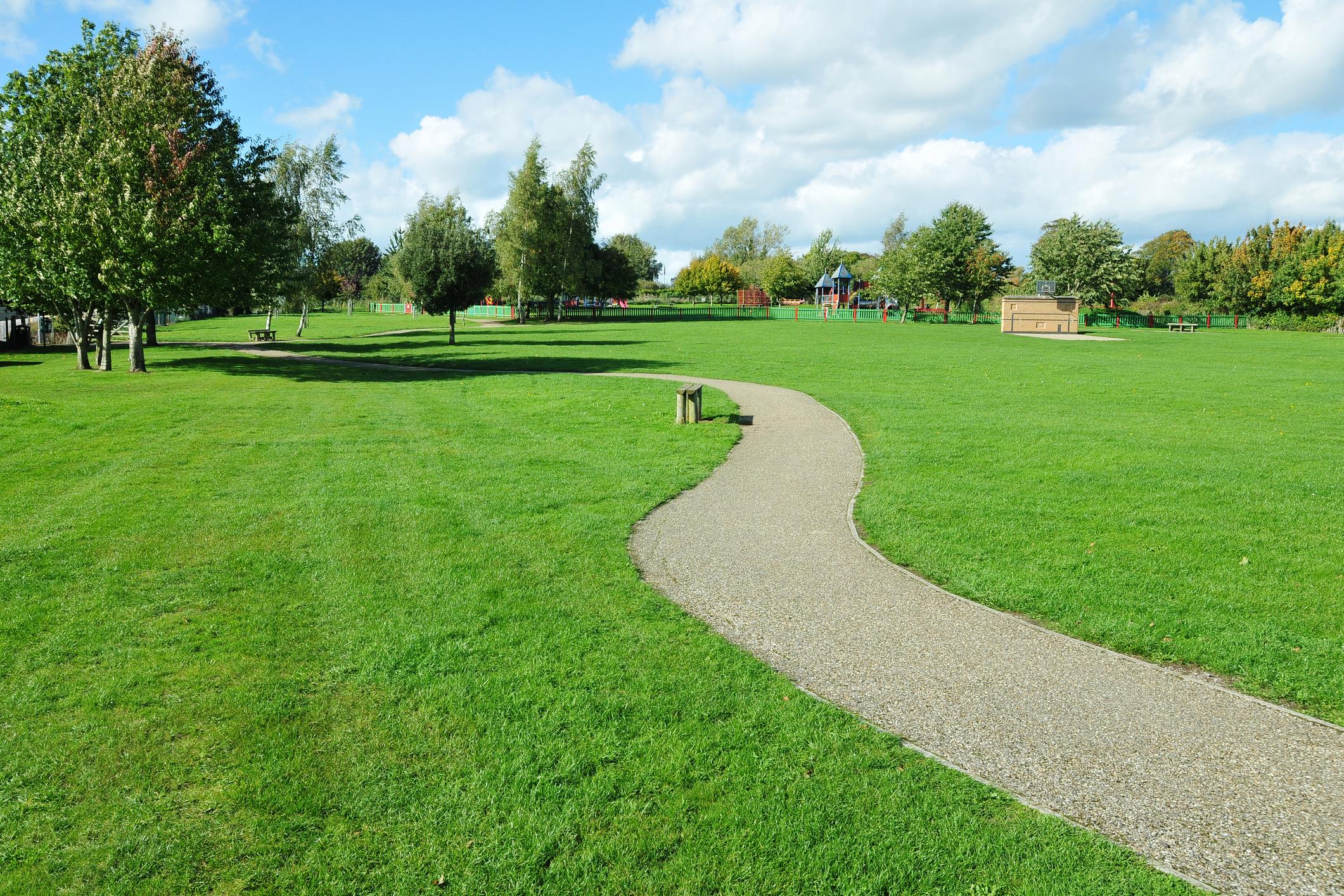 A park pathway