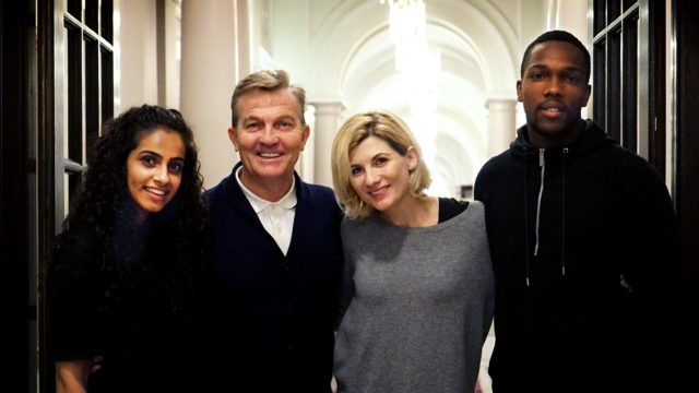 Jodie Whittaker and her companions (BBC/Chris Chibnall)