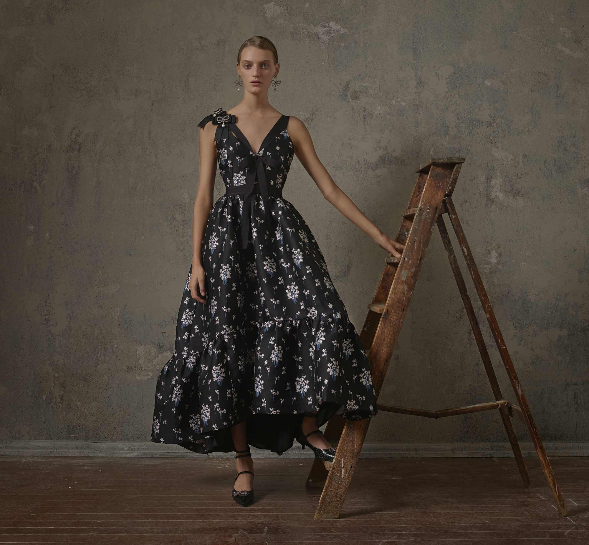 H&M x Erdem Black maxi dress