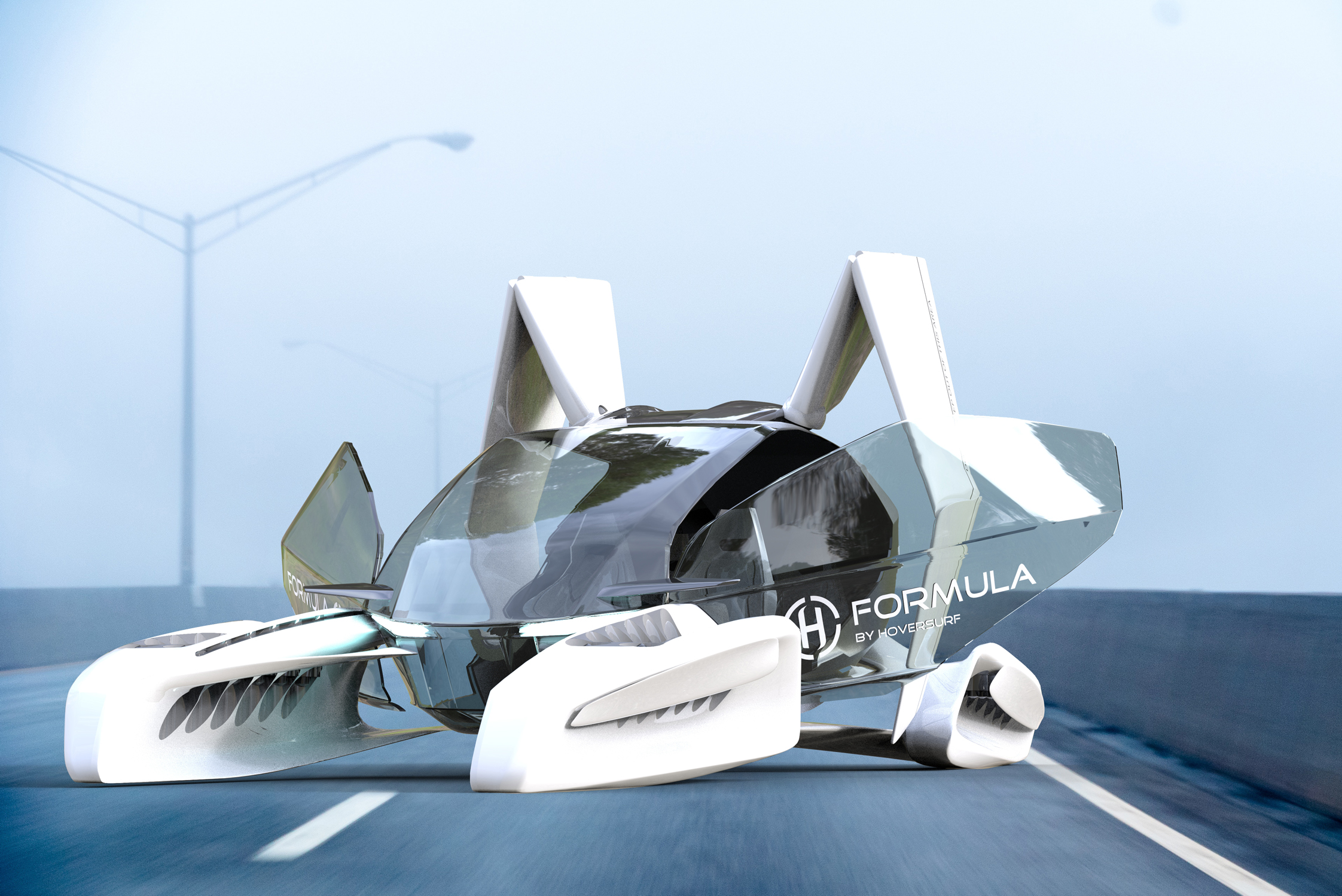 FORMULA flying taxi concept vehicle.
